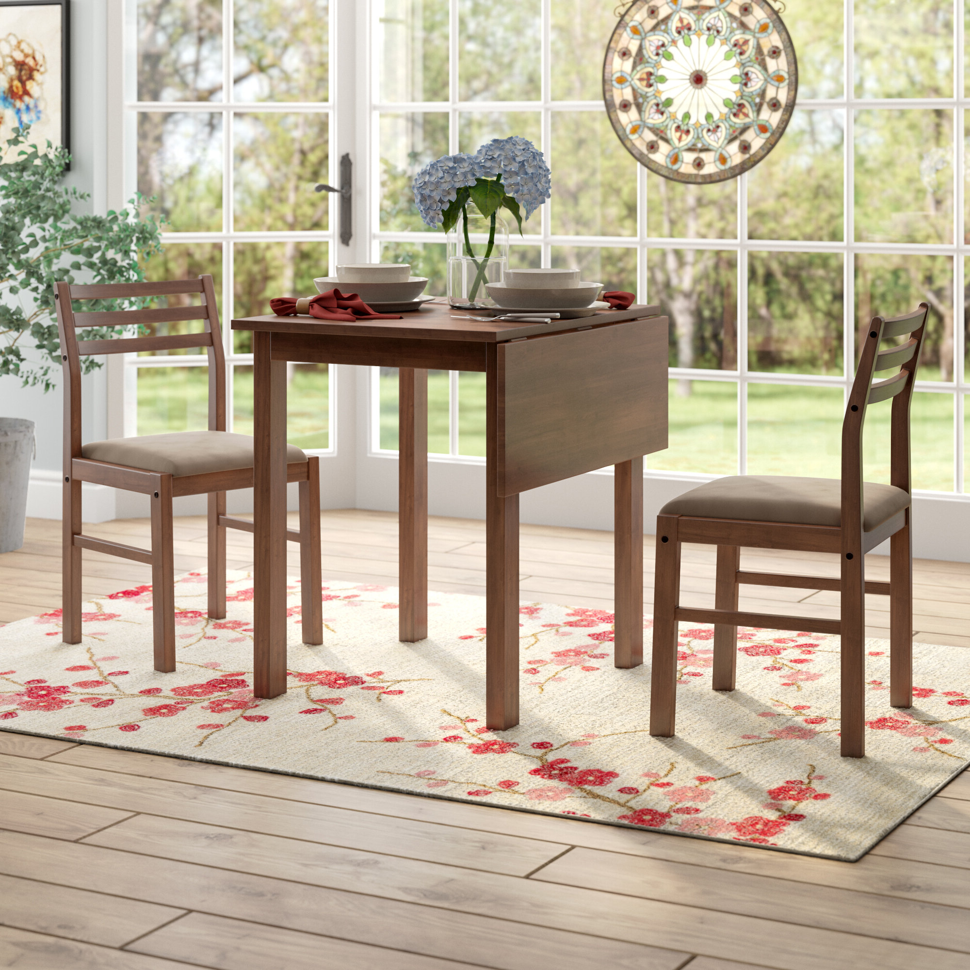 Transitional Drop Leaf Casual Dining Tables Within Widely Used Arquette 3 Piece Drop Leaf Dining Set (View 25 of 25)