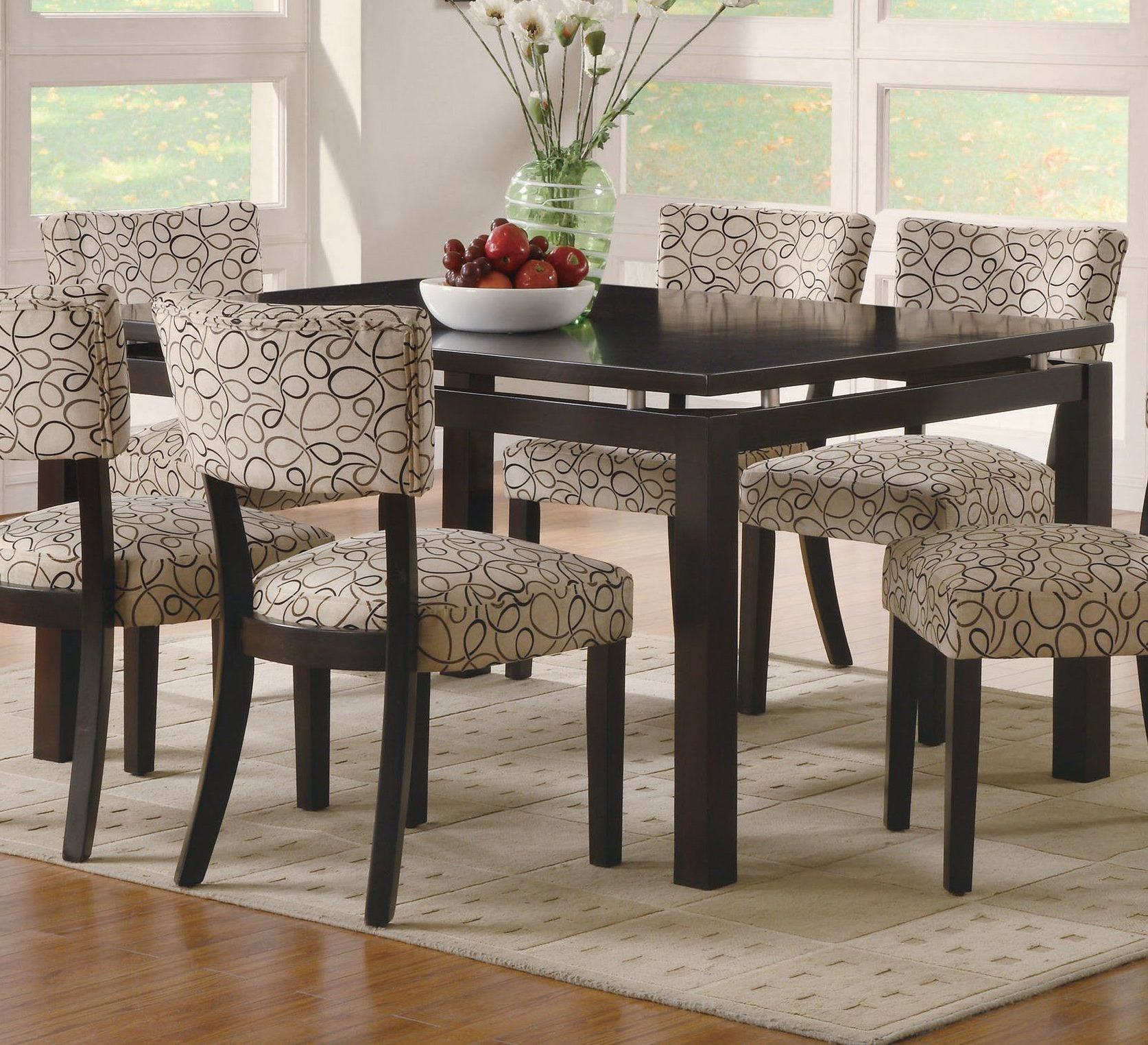 Transitional Rectangular Dining Tables Pertaining To Famous Coaster Cappuccino Rectangular Dining Table With Floating (View 9 of 21)
