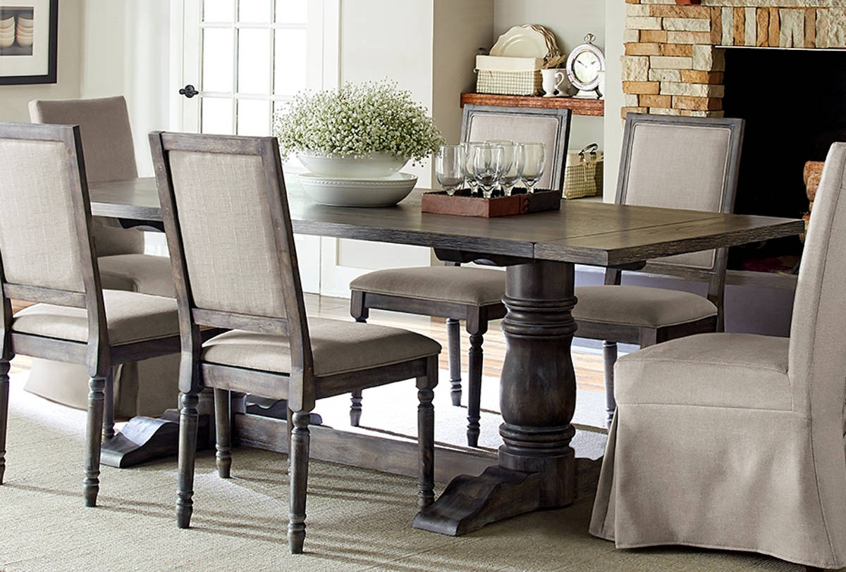 Transitional Rectangular Dining Tables Pertaining To Fashionable Progressive Furniture Muses Dove Grey Rectangle Dining Table (View 15 of 21)