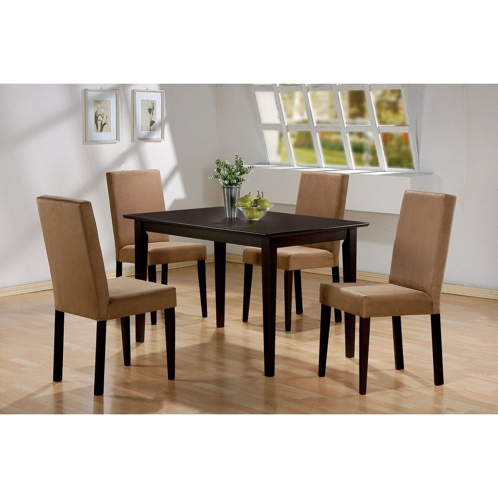 Transitional Rectangular Dining Tables With Regard To Fashionable Lorain Transitional Rectangular Dining Table – Cappuccino (View 7 of 21)