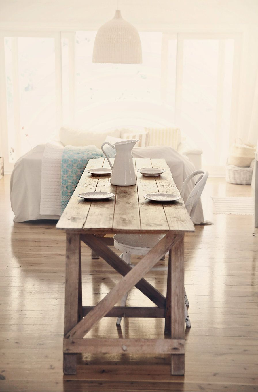 Treasure Hunting Beach Cottage Farmhouse Table For Coastal With Regard To Well Liked Small Rustic Look Dining Tables (View 4 of 25)
