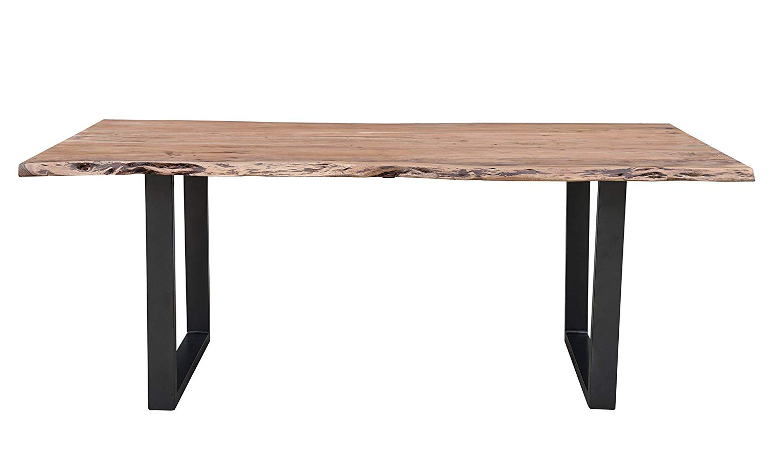 "Trendy Acacia Dining Tables With Black X Leg For Amazon – Cambridge Aya 79"" Natural Finish Acacia Wood (View 16 of 25)"