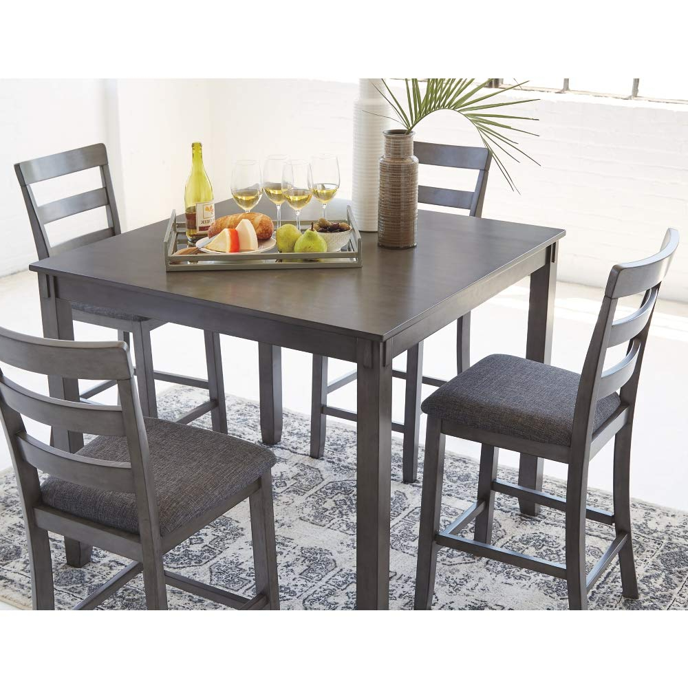 Featured Photo of Distressed Grey Finish Wood Classic Design Dining Tables