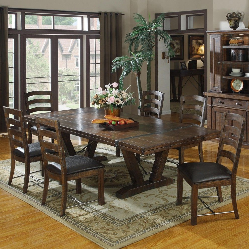 Trendy Castlegate Wood Rectangular Dining Table & Chairs In In Medium Dining Tables (View 2 of 25)