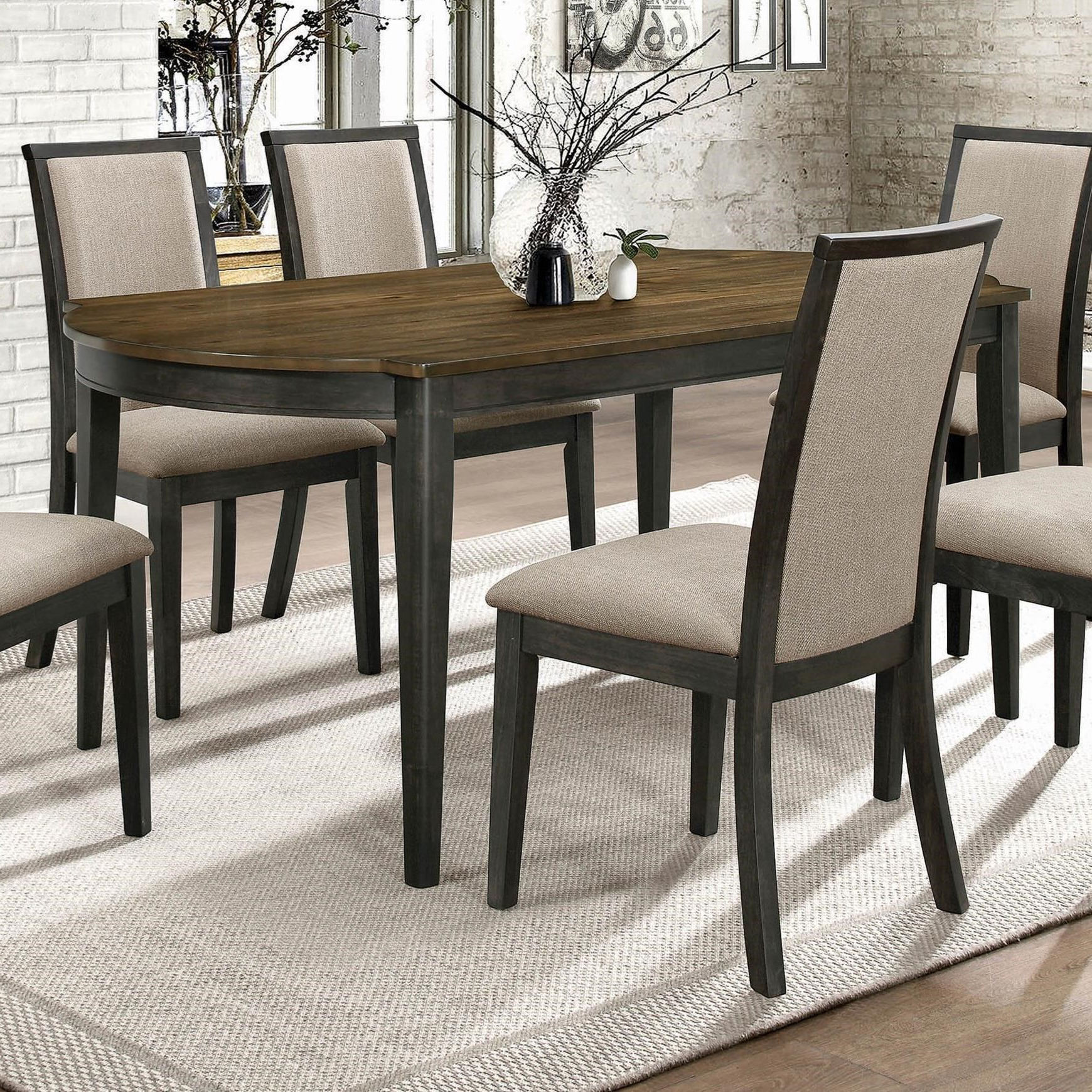 Trendy Charcoal Transitional 6 Seating Rectangular Dining Tables For Coaster Clarksville Transitional Dining Table With 2 Tone (View 15 of 25)