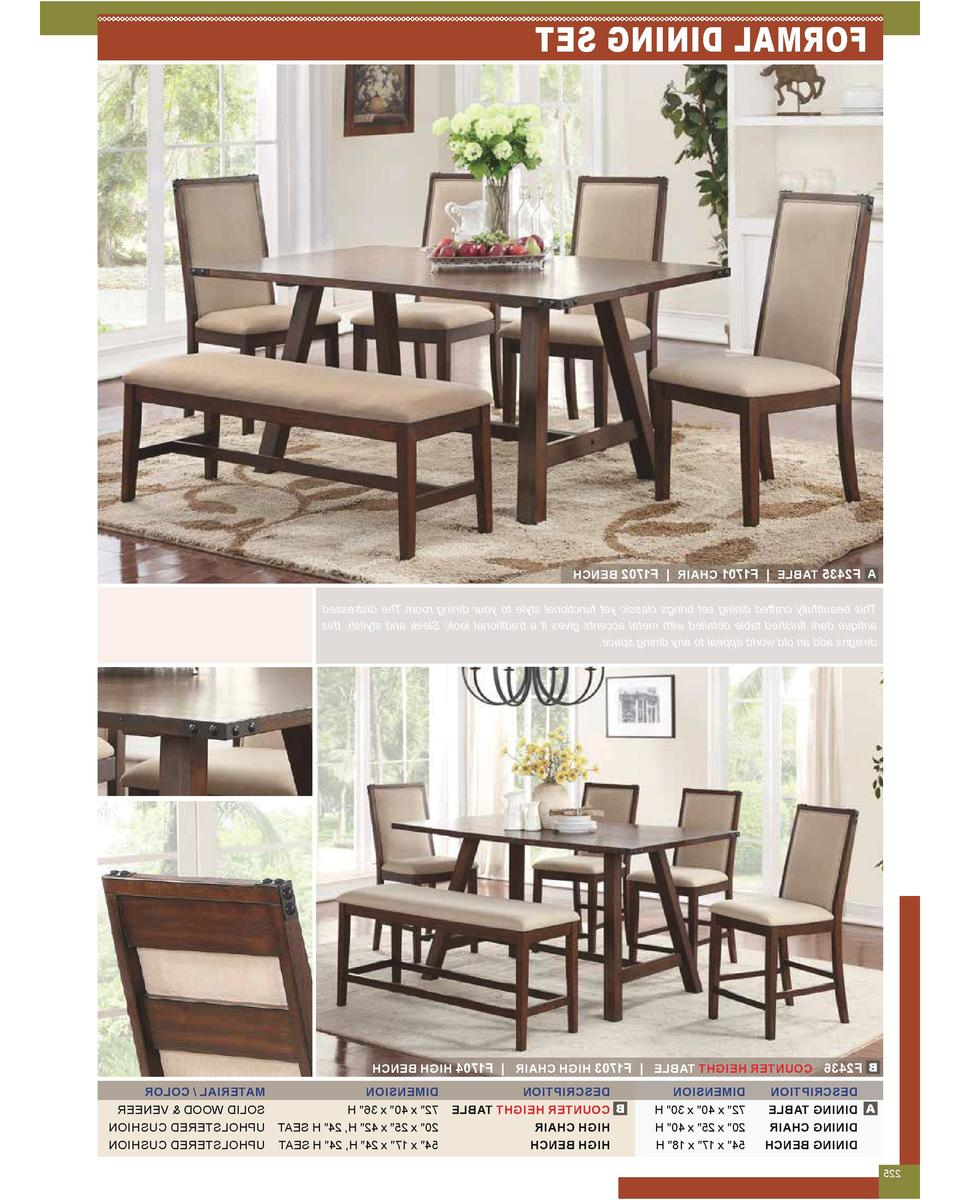 Trendy Espresso Finish Wood Classic Design Dining Tables For Dining Room Pages 1,164 249 : Simplebooklet (View 13 of 17)