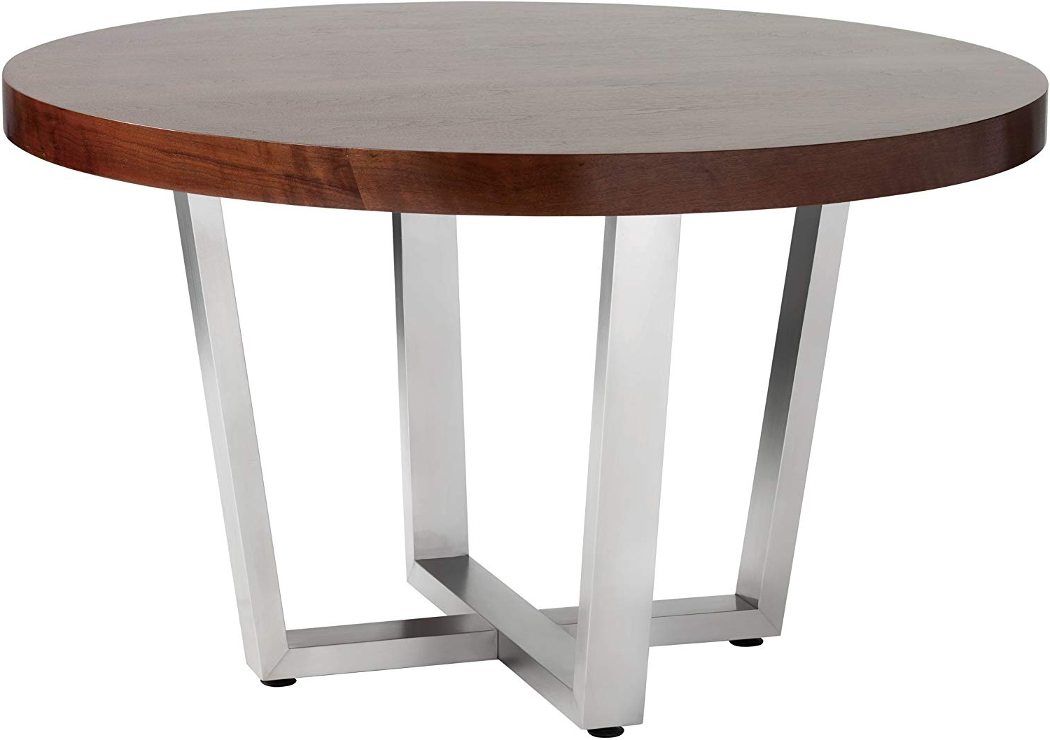 Trendy Sunpan Ikon Dining Tables, Brown With Regard To Transitional 4 Seating Double Drop Leaf Casual Dining Tables (View 8 of 25)
