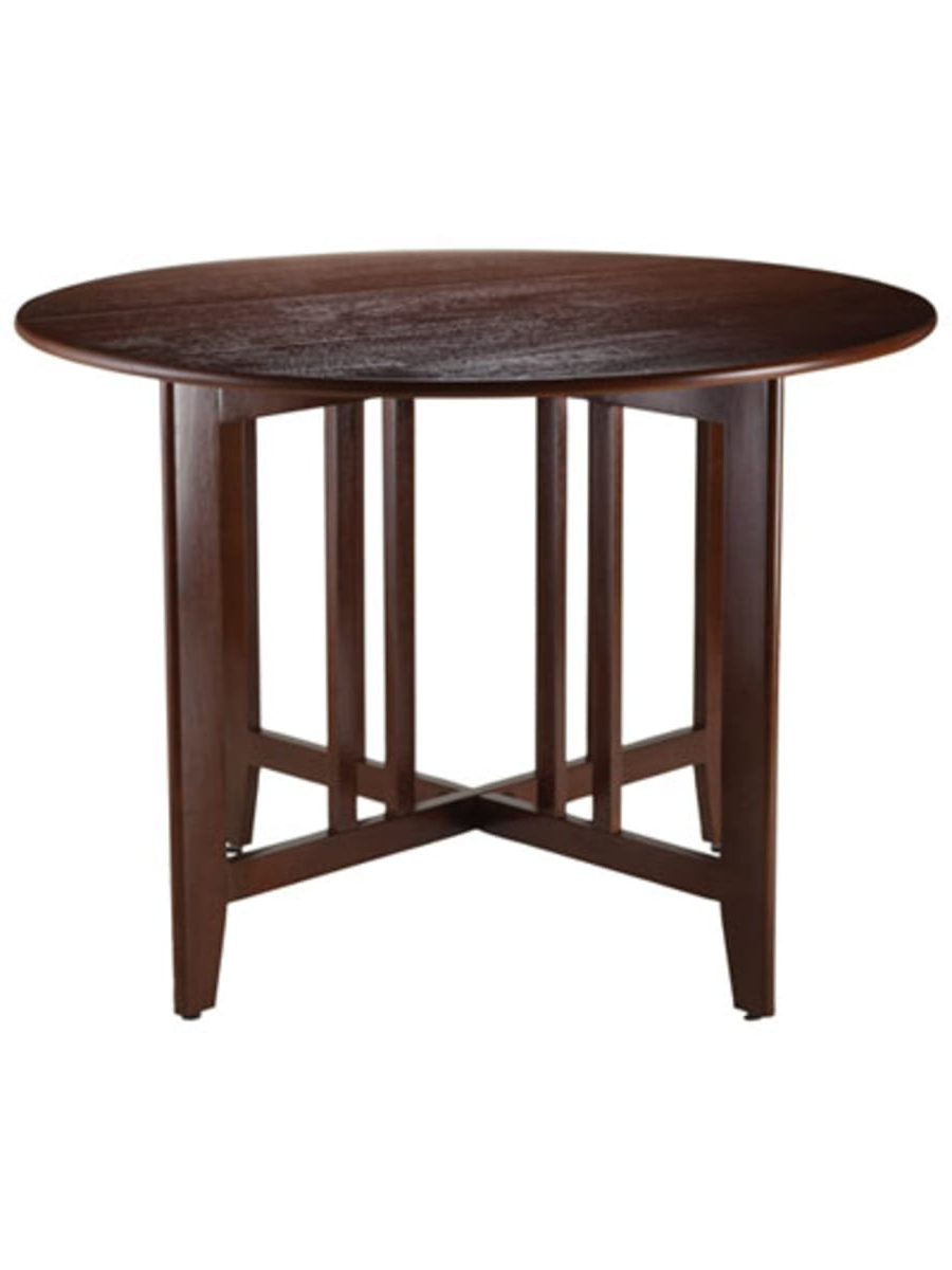 Trendy Winsome Alamo Transitional 4 Seating Double Drop Leaf Round Inside Transitional Antique Walnut Drop Leaf Casual Dining Tables (View 3 of 25)