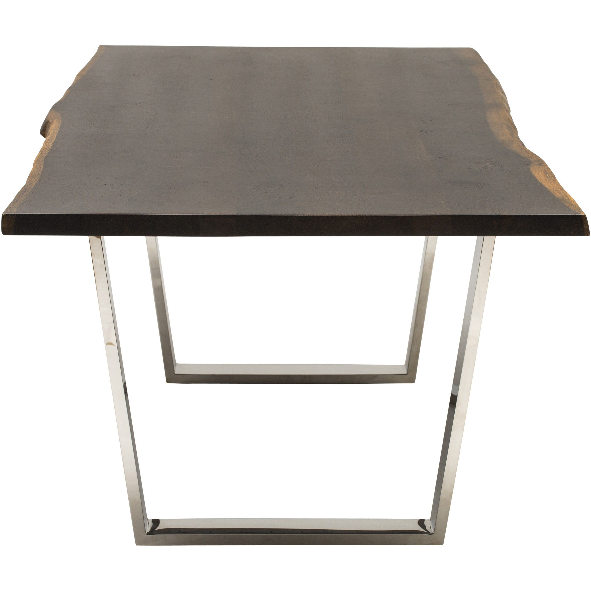 Versailles Dining Table, Seared Oak/polished Stainless Base Throughout Newest Dining Tables In Seared Oak (View 8 of 25)