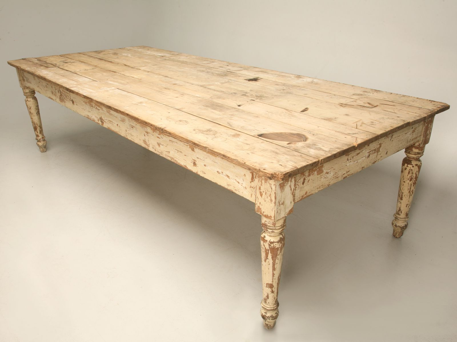Vintage Dining Table Regarding Recent Country Dining Tables With Weathered Pine Finish (View 6 of 25)