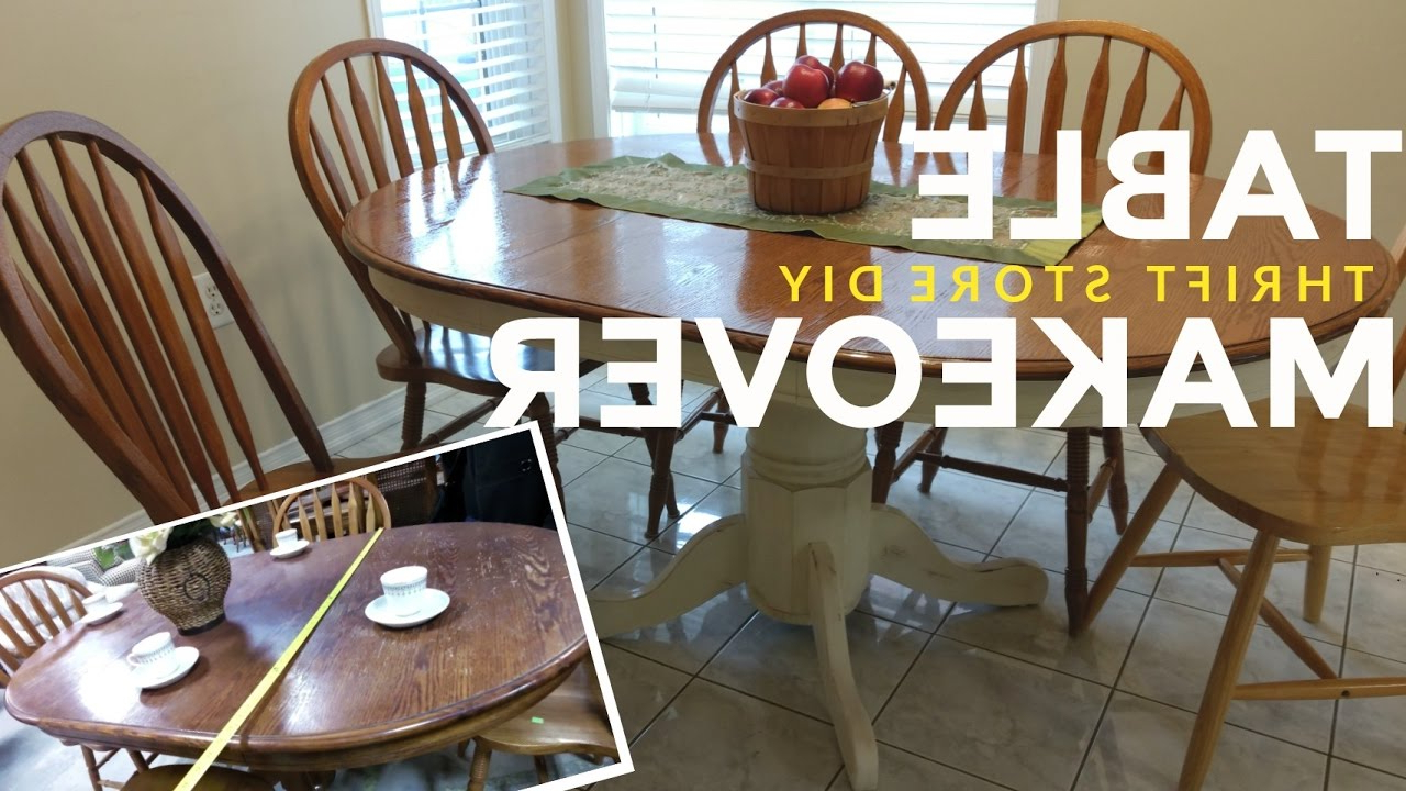 Walnut And Antique White Finish Contemporary Country Dining Tables Regarding 2019 How To Refinish A Kitchen Dining Table: Vintage / Shabby Chic / Farmhouse Style! (View 20 of 25)