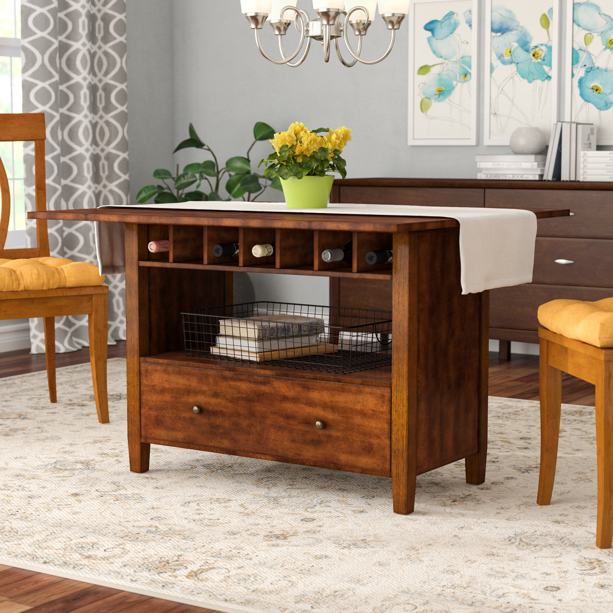 Wayfair Inside 2020 Transitional Antique Walnut Drop Leaf Casual Dining Tables (View 14 of 25)