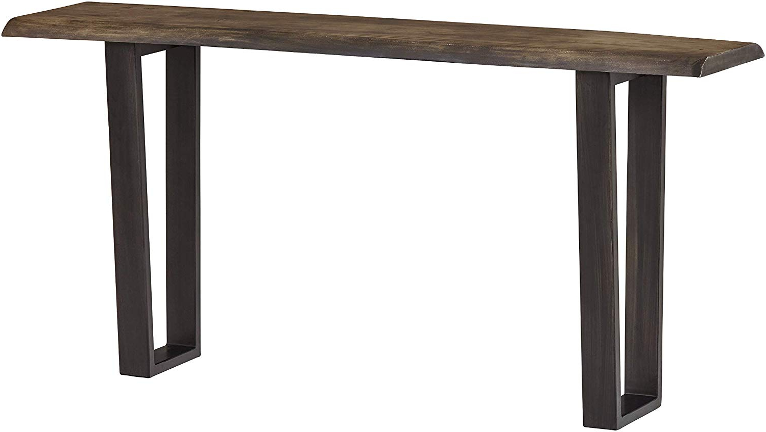 "Well Known Acacia Wood Top Dining Tables With Iron Legs On Raw Metal Inside Stone & Beam Garrett Rustic Acacia Wood Sofa Table With Iron Legs, 60""w,  Gray And Raw Metal (View 2 of 25)"