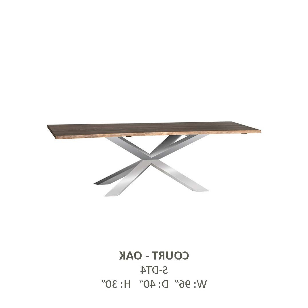 Well Known Cort – Maxamin Decor Regarding Dining Tables With Brushed Gold Stainless Finish (View 23 of 25)