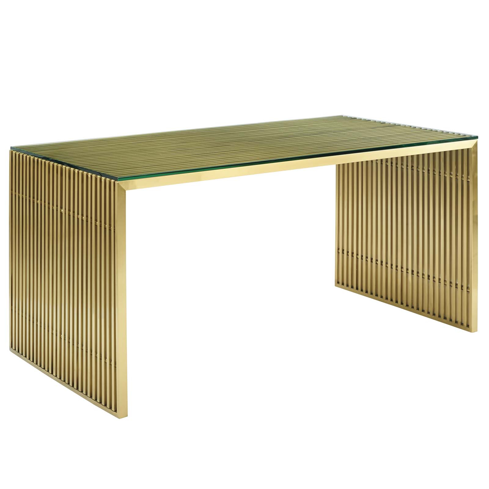Well Known Details About Modern Deco Lounge Dining Table, Metal Steel Stainless Steel Glass, Gold, 14242 Intended For Steel And Glass Rectangle Dining Tables (View 15 of 25)