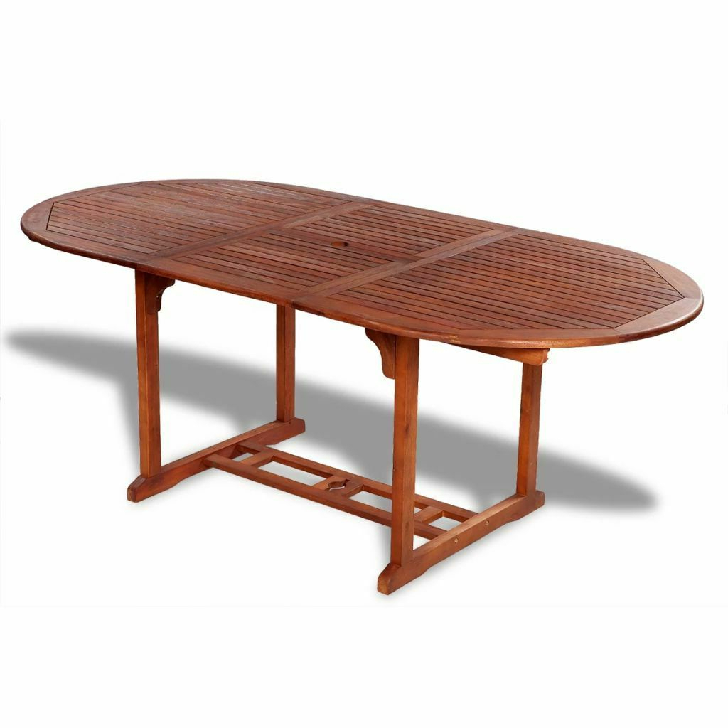 Well Known Details About New Solid Acacia Wood Outdoor Dining Table Extendable Garden  Furniture Pertaining To Solid Acacia Wood Dining Tables (View 25 of 25)