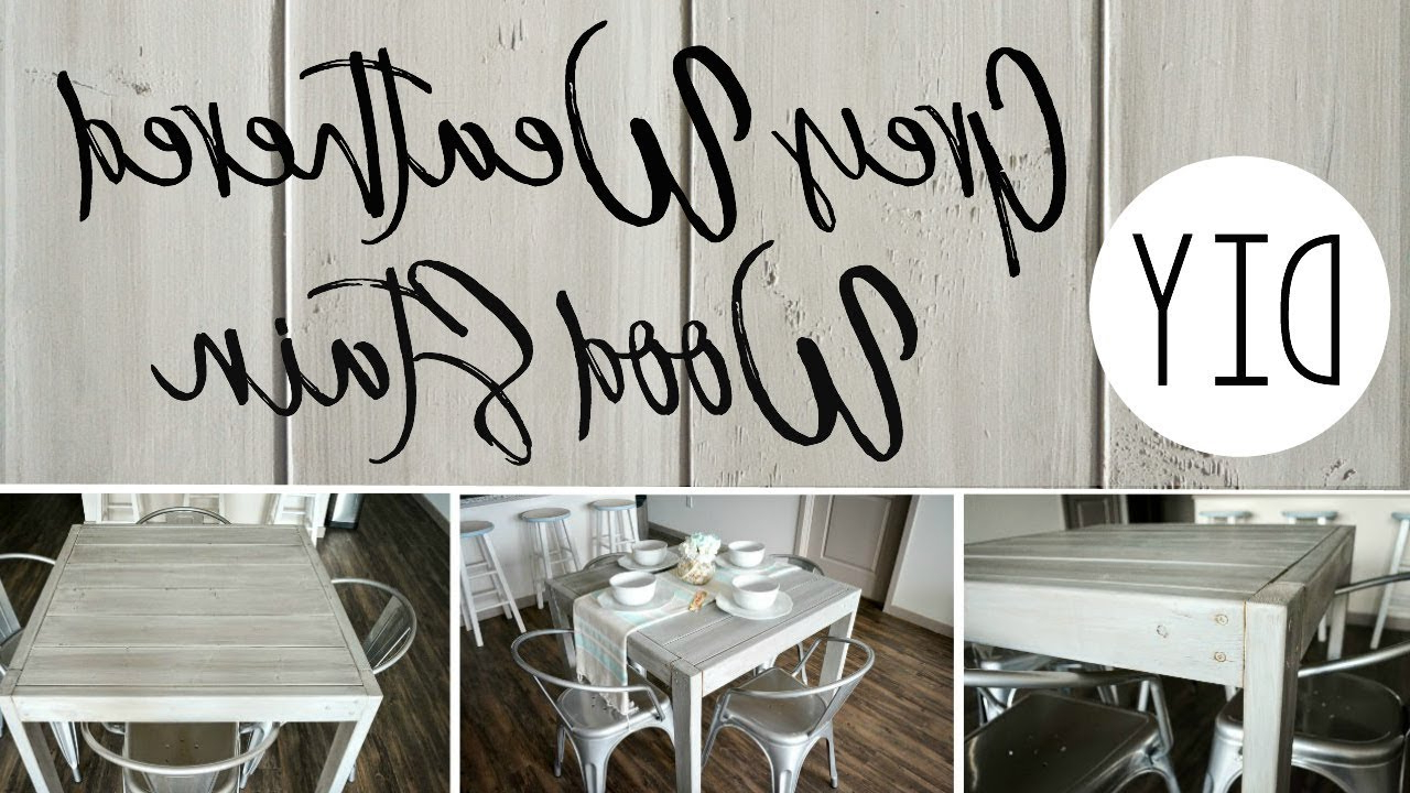 Well Known Diy Grey Weathered Wood Stain Regarding Distressed Grey Finish Wood Classic Design Dining Tables (View 16 of 25)