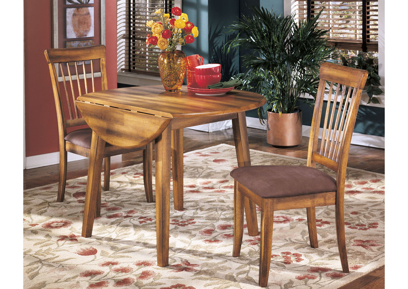 Well Known Furniture Palace Berringer Round Drop Leaf Table Throughout Transitional Drop Leaf Casual Dining Tables (View 24 of 25)