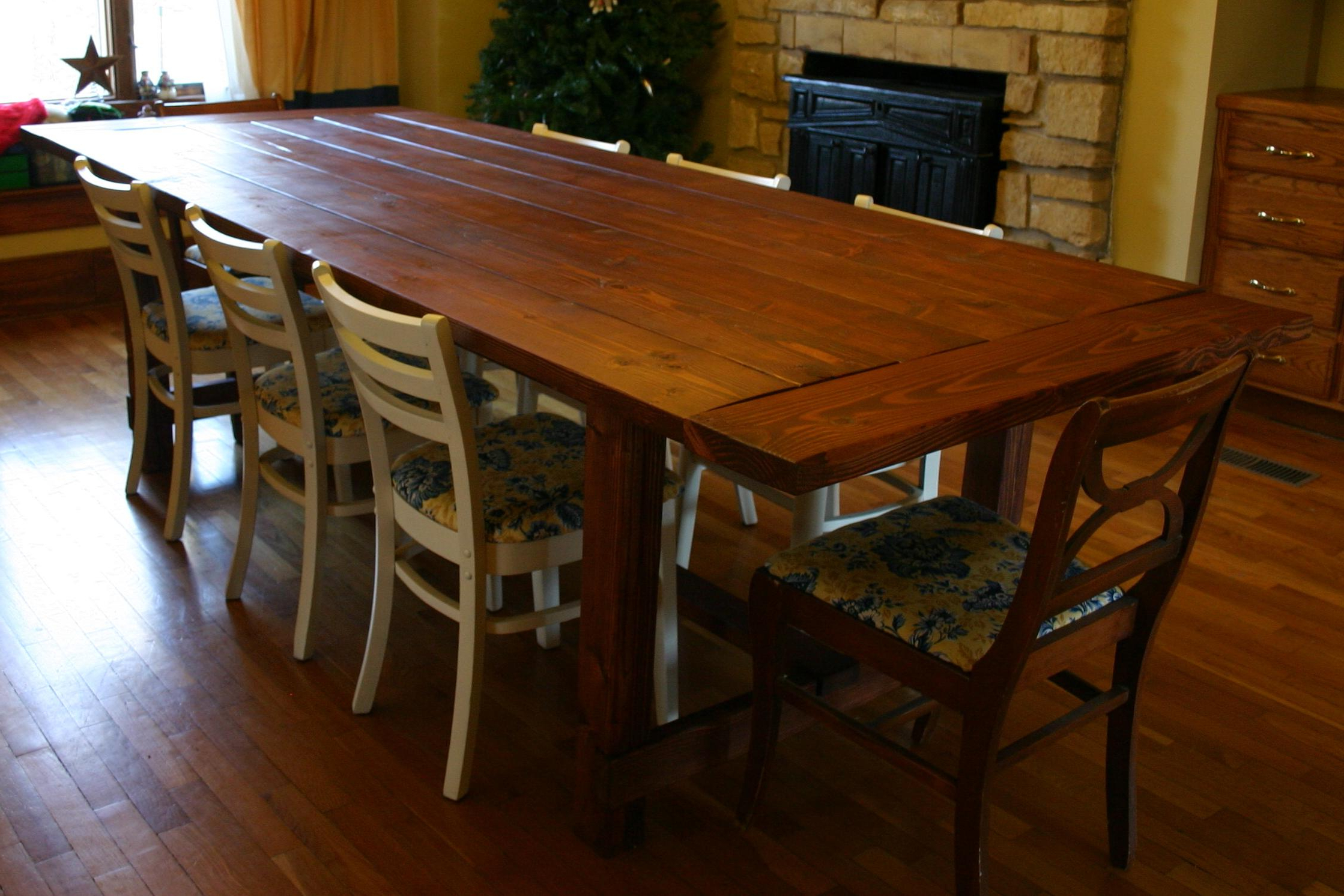 Well Known Large Rustic Look Dining Tables For 10 Seat Dining Table And Chairs : Modern Kitchen Furniture (View 16 of 25)
