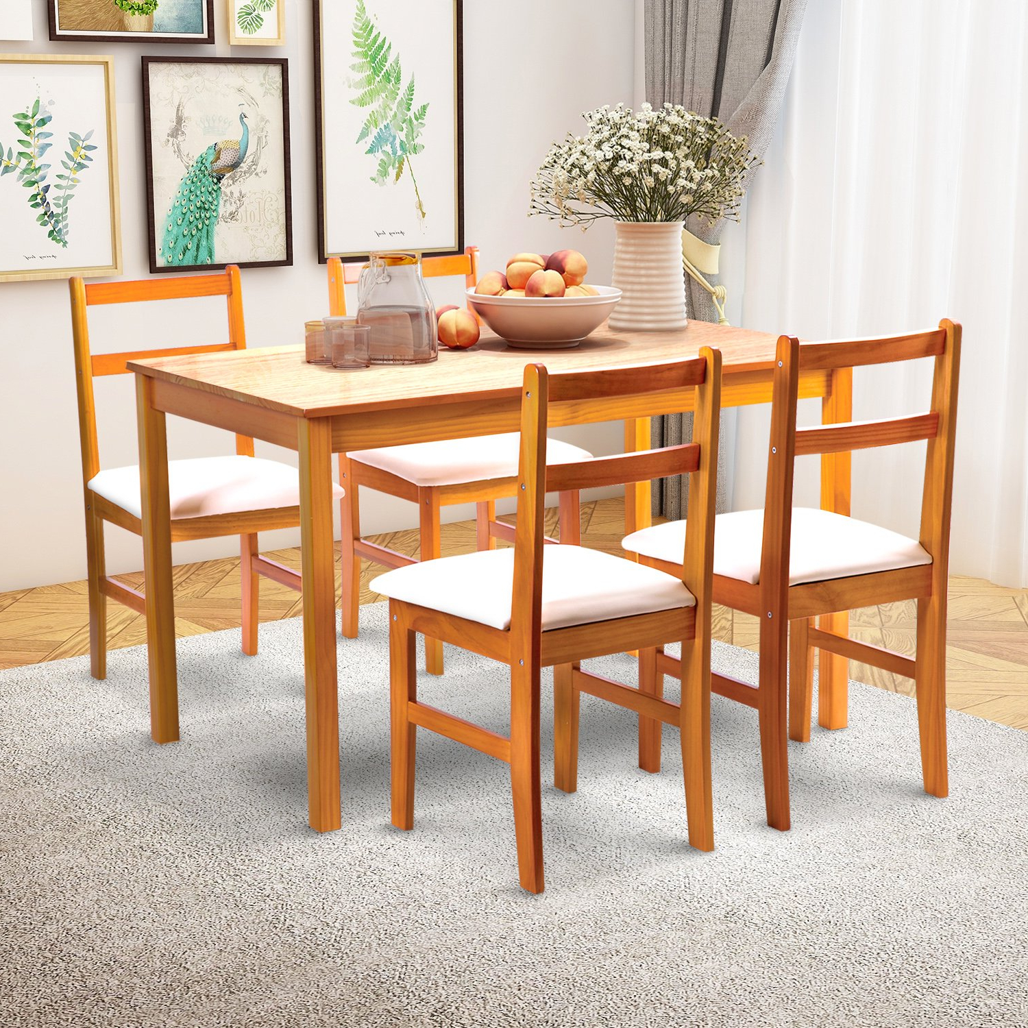 Well Known Mid Century Rectangular Top Dining Tables With Wood Legs Pertaining To Furniture Giantex Modern Dining Table Mid Century Home (View 15 of 25)