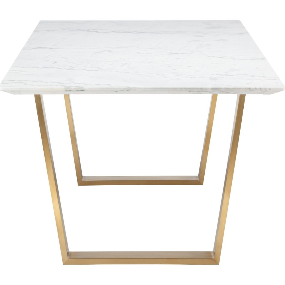 Well Known Nuevo Modern Furniture Hgsx139 Catrine Dining Table White Within Dining Tables With Brushed Gold Stainless Finish (View 19 of 25)