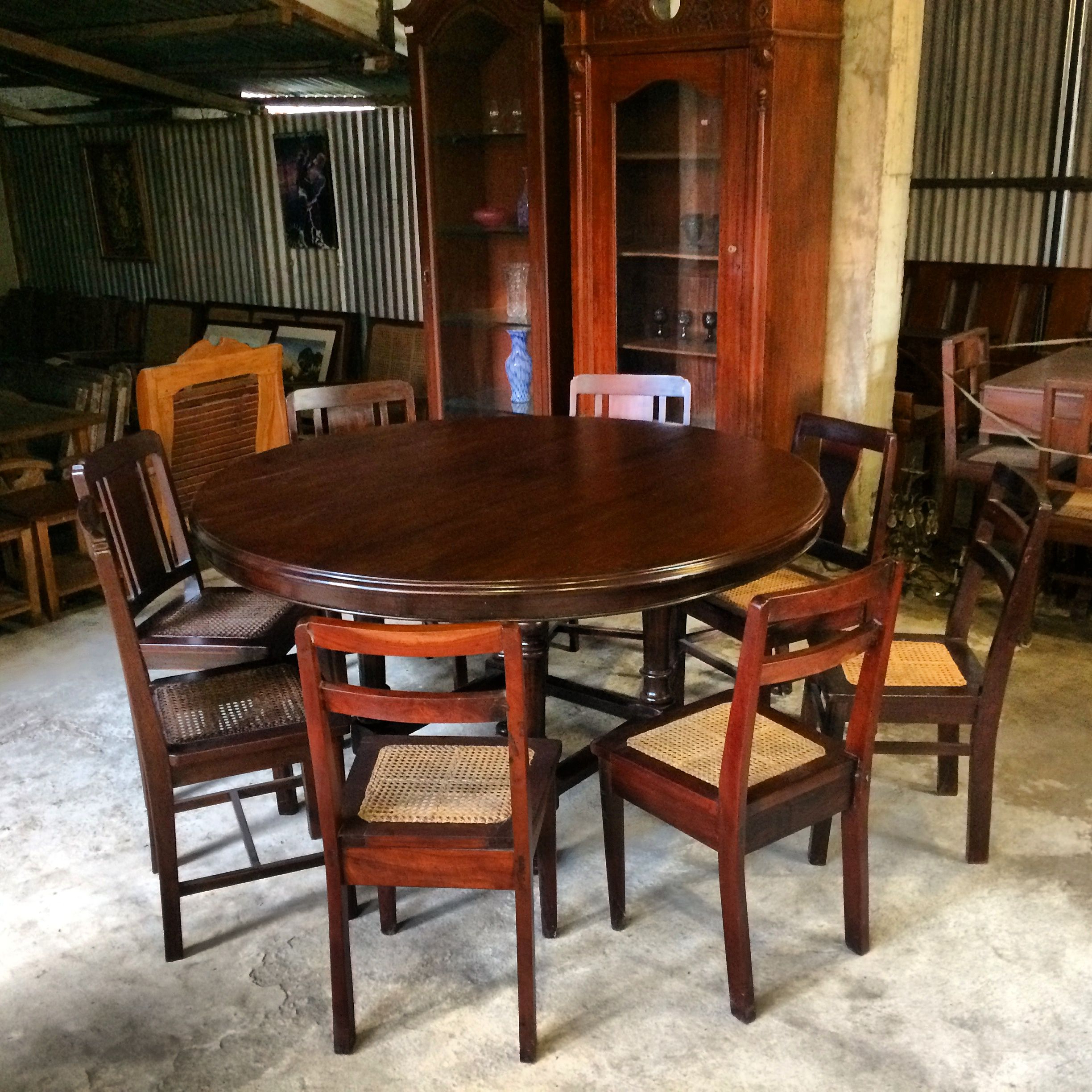 Well Known Vintage Cream Frame And Espresso Bamboo Dining Tables Within My 6 7 Seater Vintage — Narra Dining Table — (View 11 of 25)