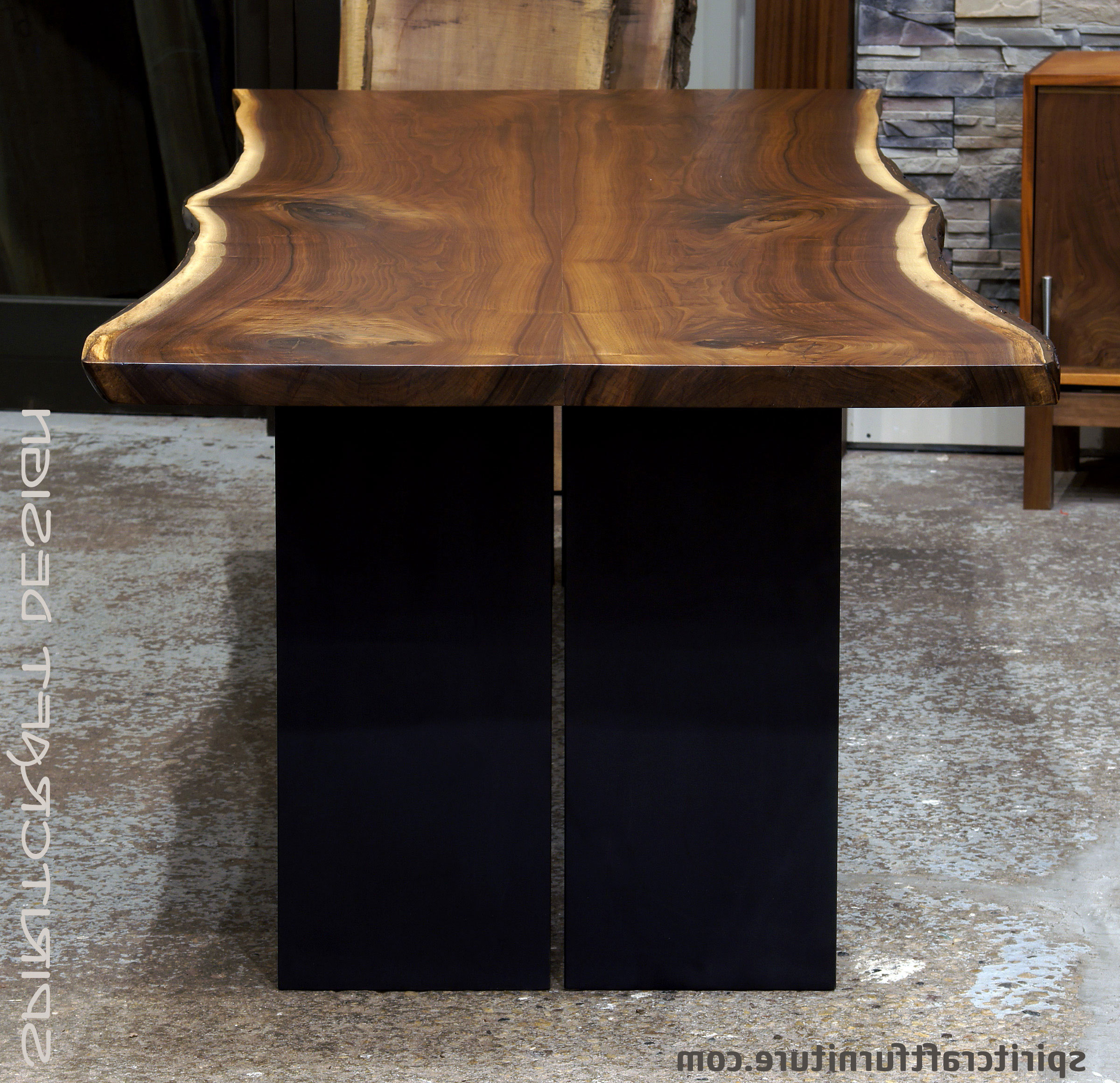 Well Known Walnut Finish Live Edge Wood Contemporary Dining Tables With Live Edge Slab Dining Tables, Walnut Slabs And Tops (View 25 of 25)