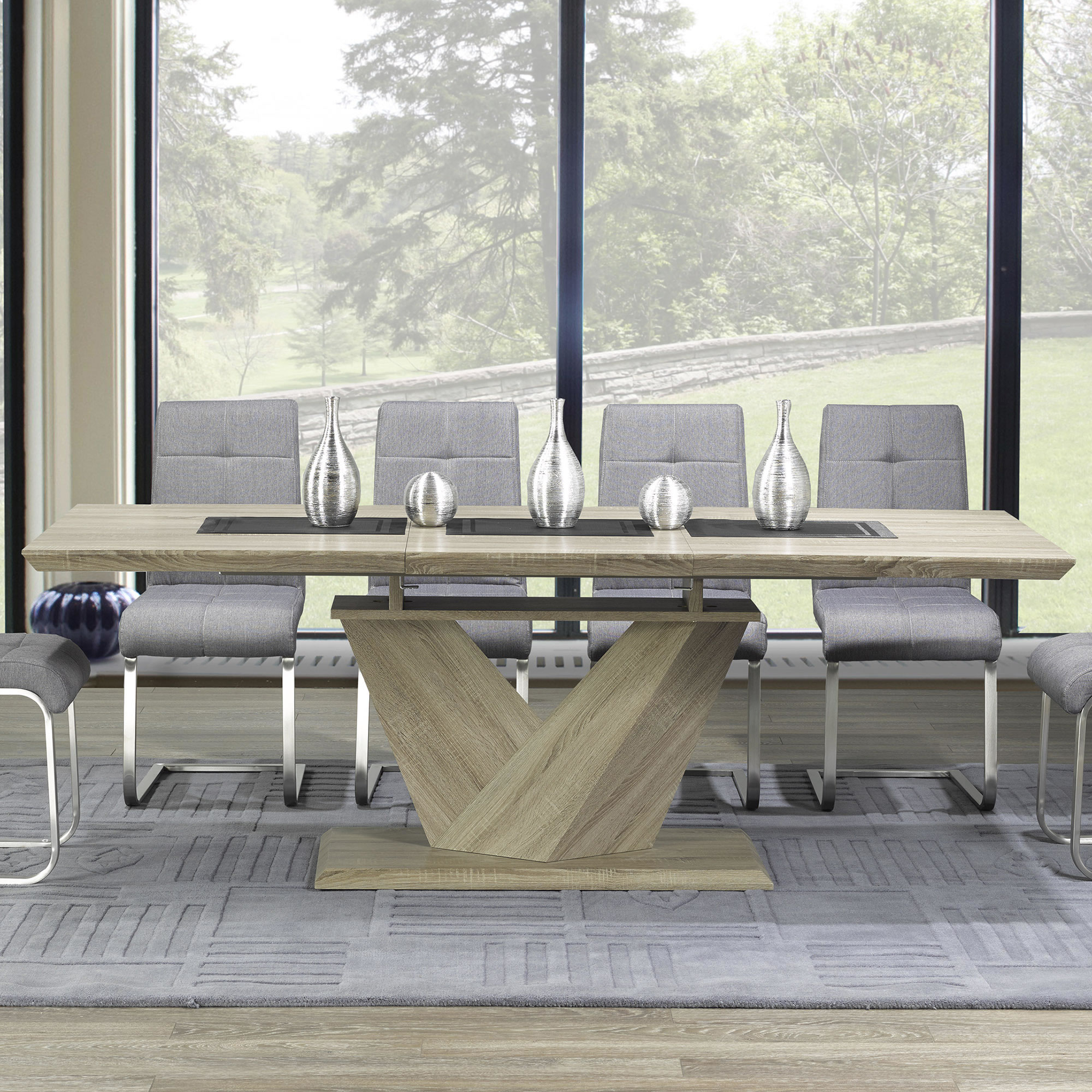 Well Liked Eclipse Dining Tables Inside Eclipse Dining Table (Washed Oak) (View 24 of 25)