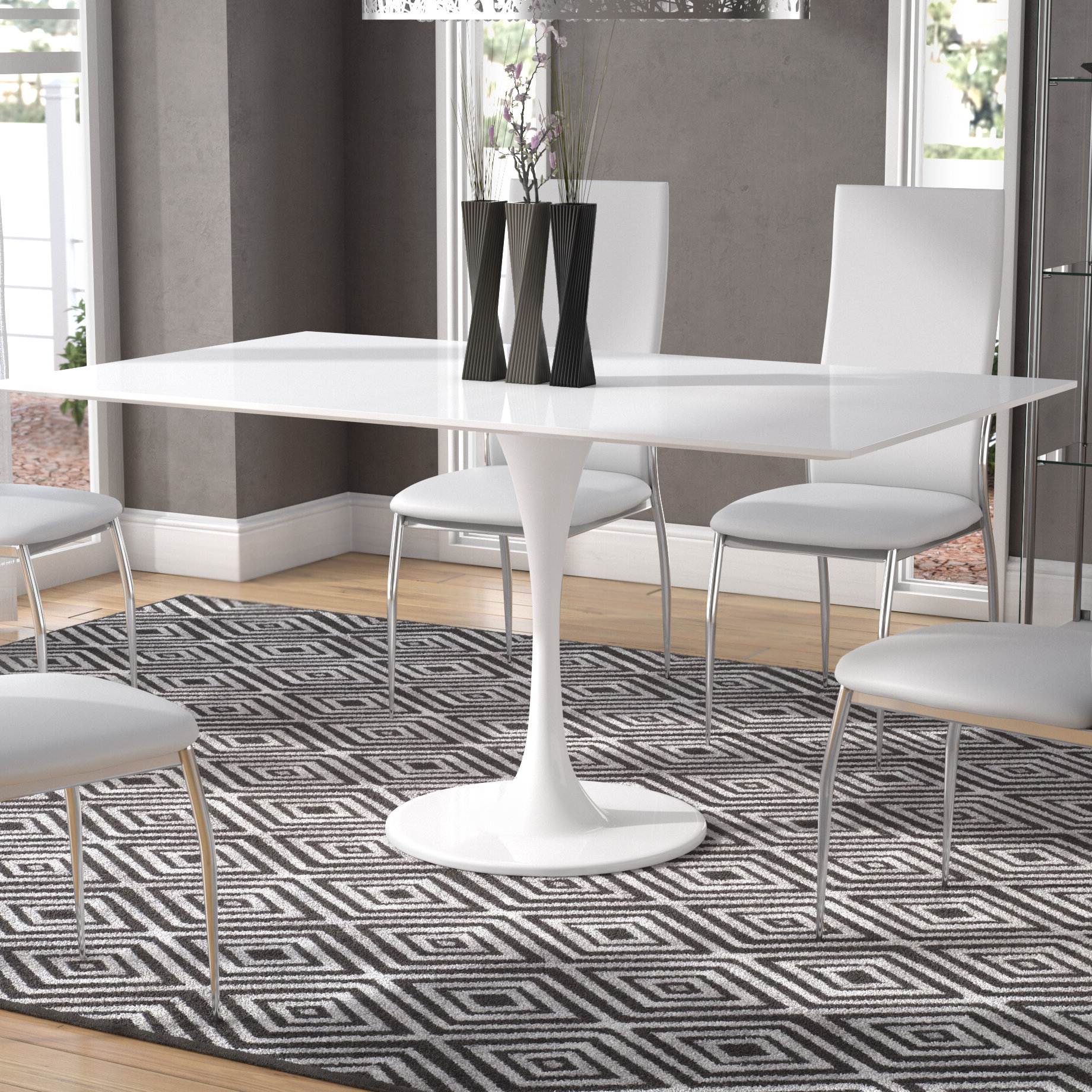 Well Liked Julien Contemporary Rectangular Dining Table Regarding Contemporary Rectangular Dining Tables (View 24 of 25)