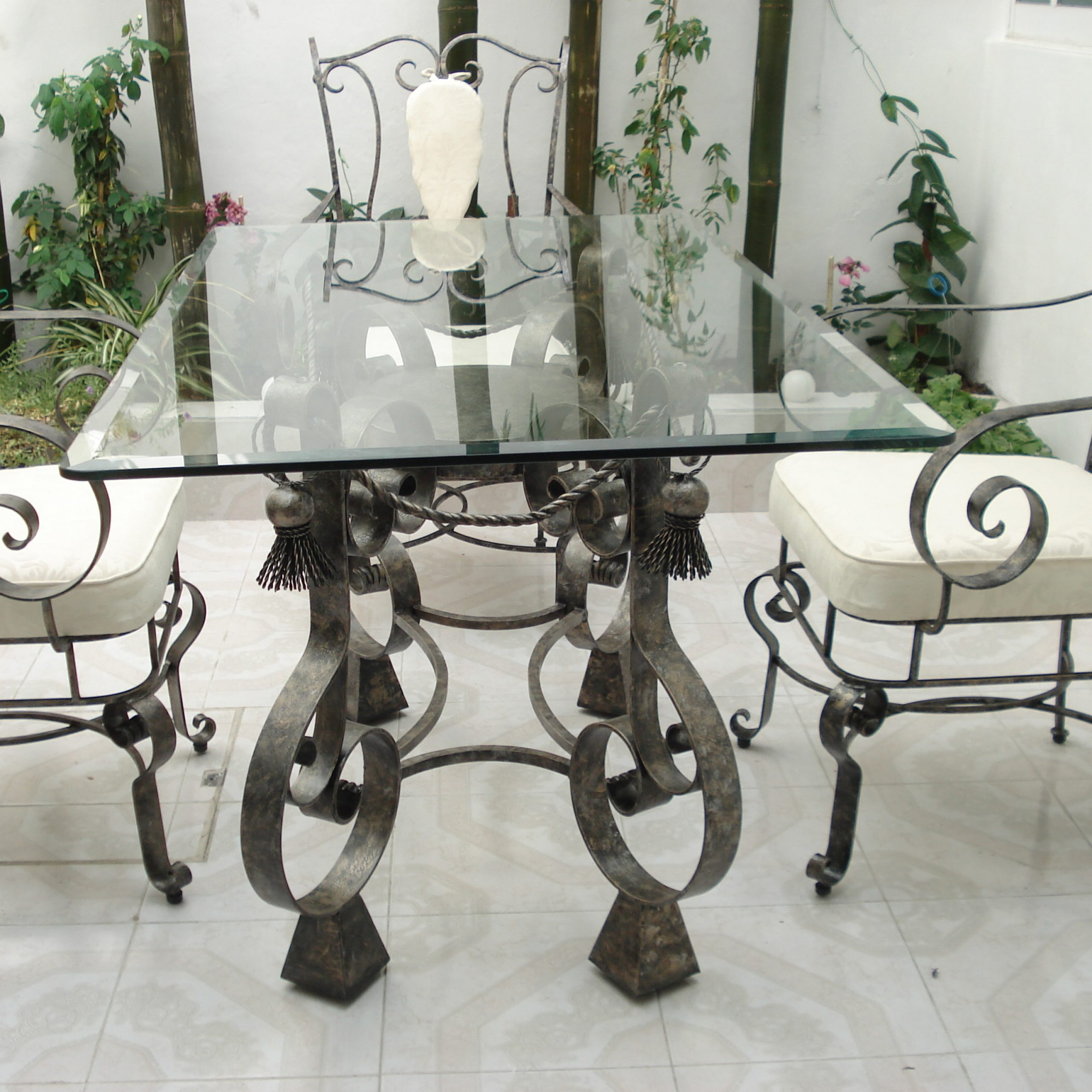 Well Liked Wrought Iron And Wood Dining Tables Room Inside Iron Wood Dining Tables (View 12 of 25)