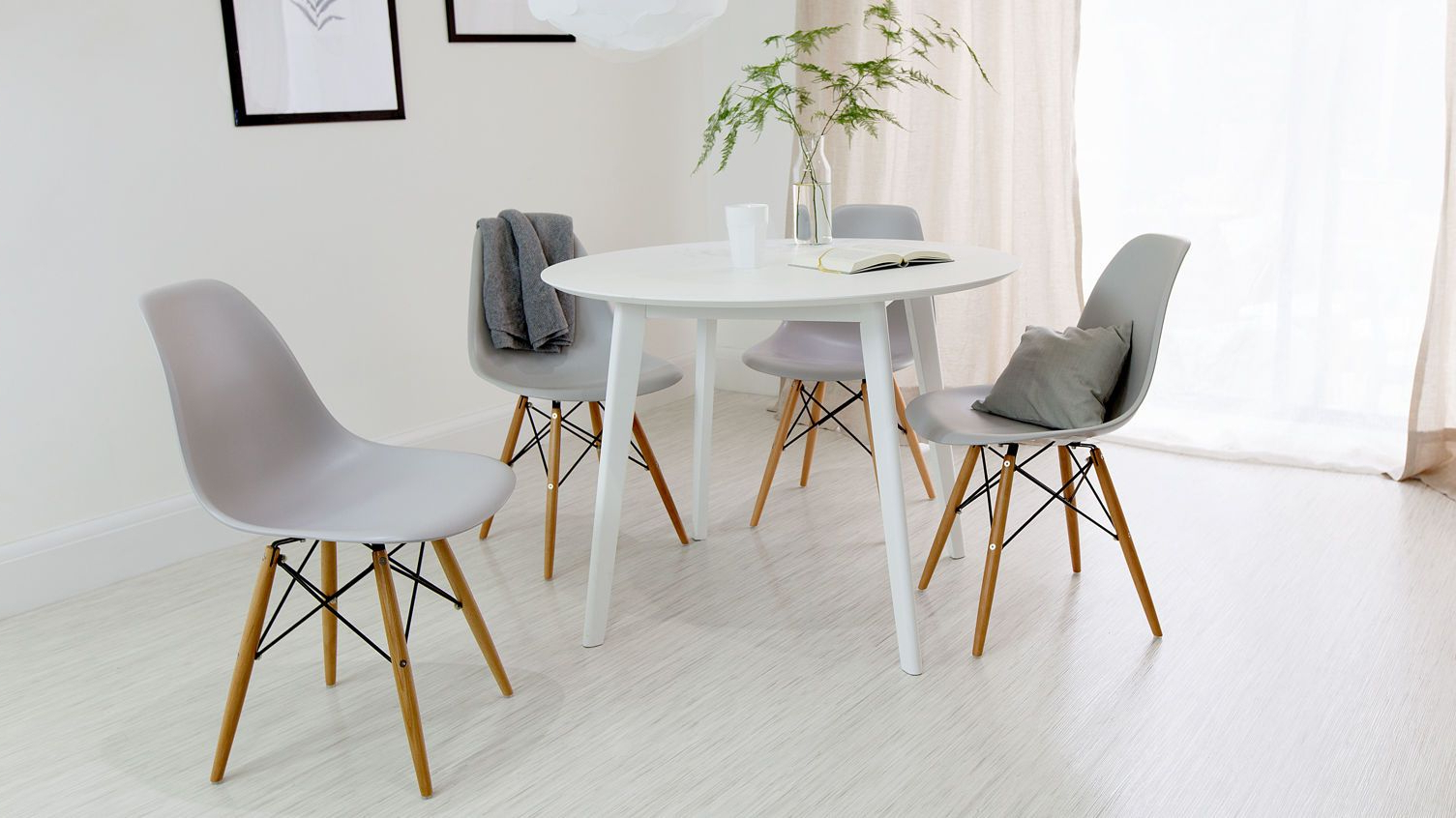 White Dining Table, Round For Eames Style Dining Tables With Wooden Legs (View 14 of 16)