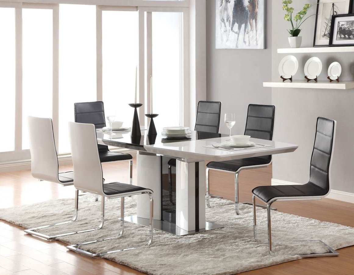 White Throughout Well Liked Chrome Contemporary Square Casual Dining Tables (View 1 of 25)