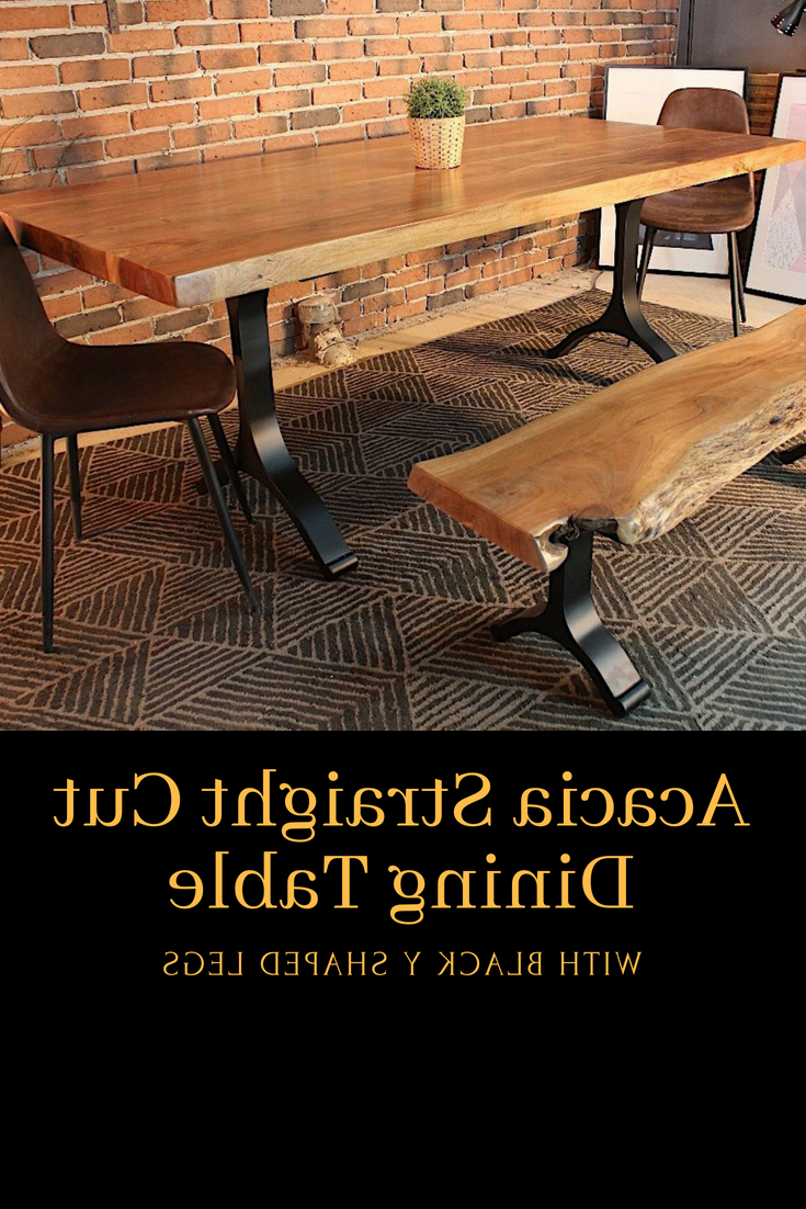 Widely Used Acacia Dining Tables With Black X Legs Intended For Pin On Natural Acacia Wood Tables (View 25 of 25)