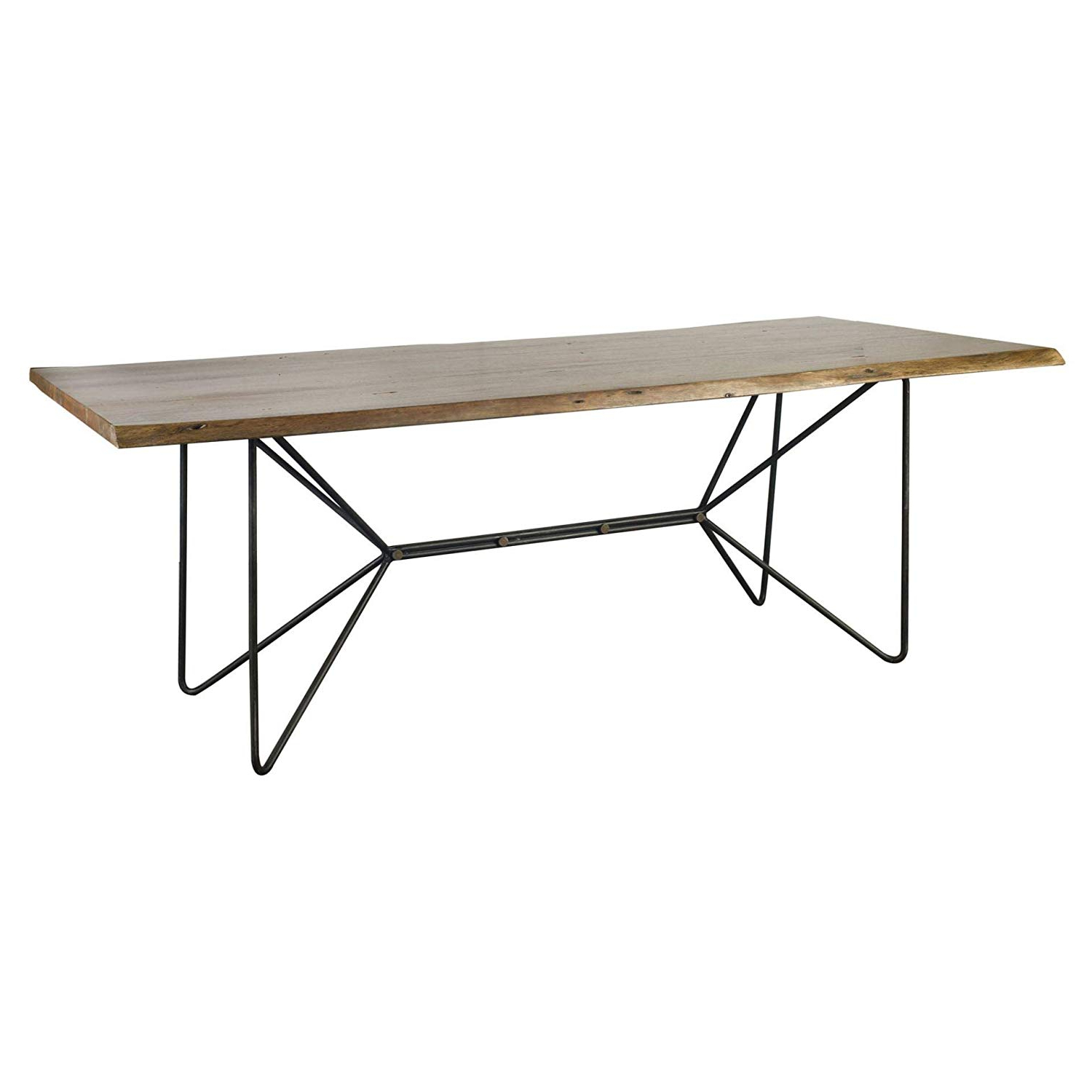 "Widely Used Acacia Wood Dining Tables With Sheet Metal Base With Regard To Amazon: Mercana 67623 Ab Dining Table, 84"" X 38"" X (View 23 of 25)"