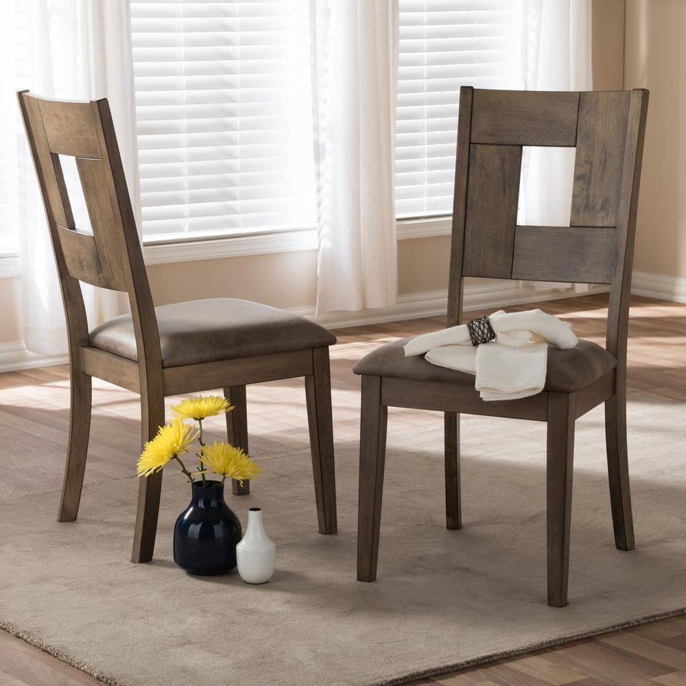 Widely Used Distressed Grey Finish Wood Classic Design Dining Tables Regarding Flatiron Abelone Chair Tribecca Sets Set Inspire Grey (View 25 of 25)