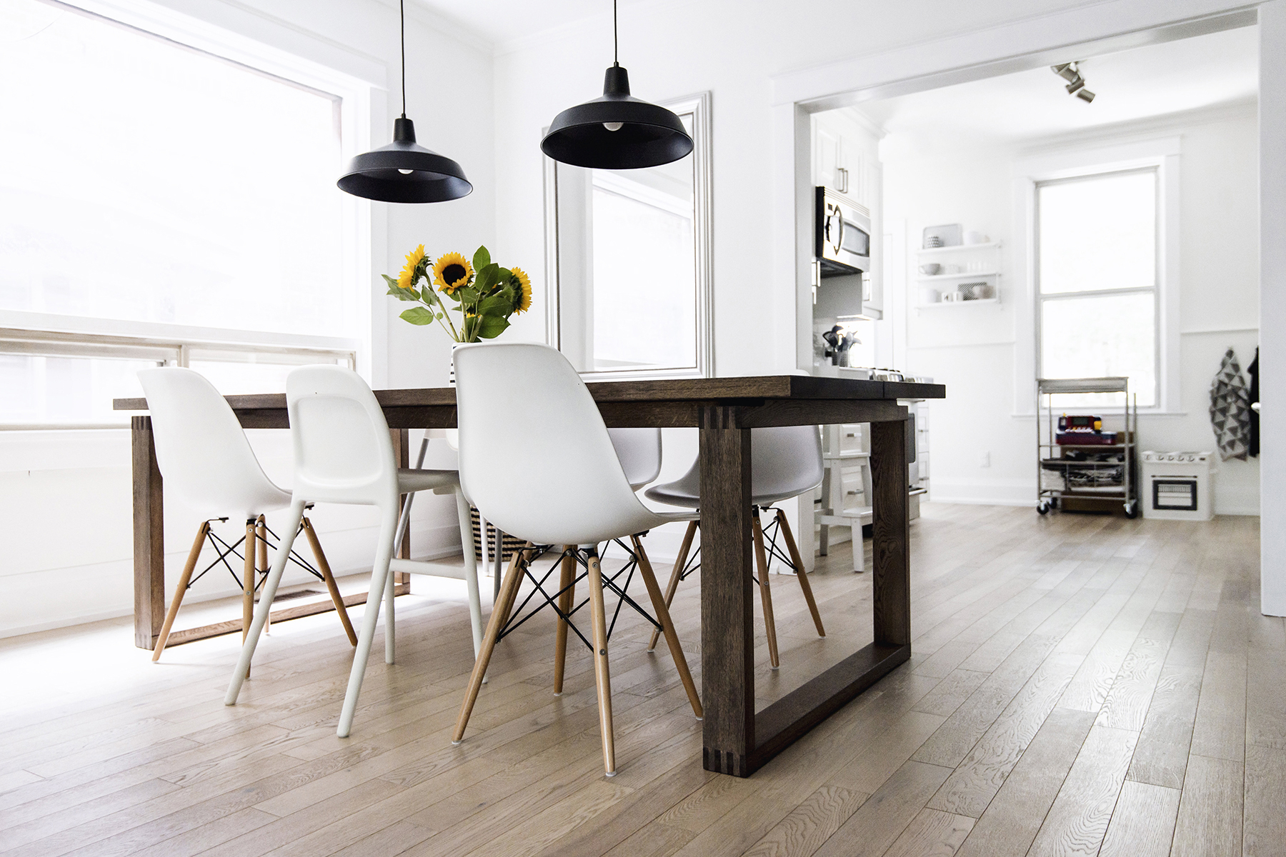 Widely Used Eames Style Dining Tables With Wooden Legs With Regard To House Tour: Dining Room (View 6 of 16)
