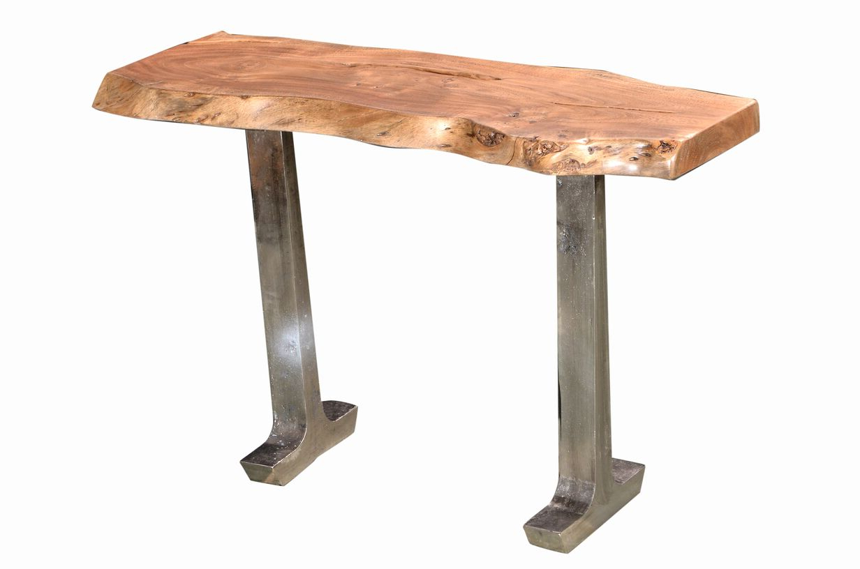 Widely Used Earth Tables – Design Source Guide Inside Acacia Wood Top Dining Tables With Iron Legs On Raw Metal (View 24 of 25)