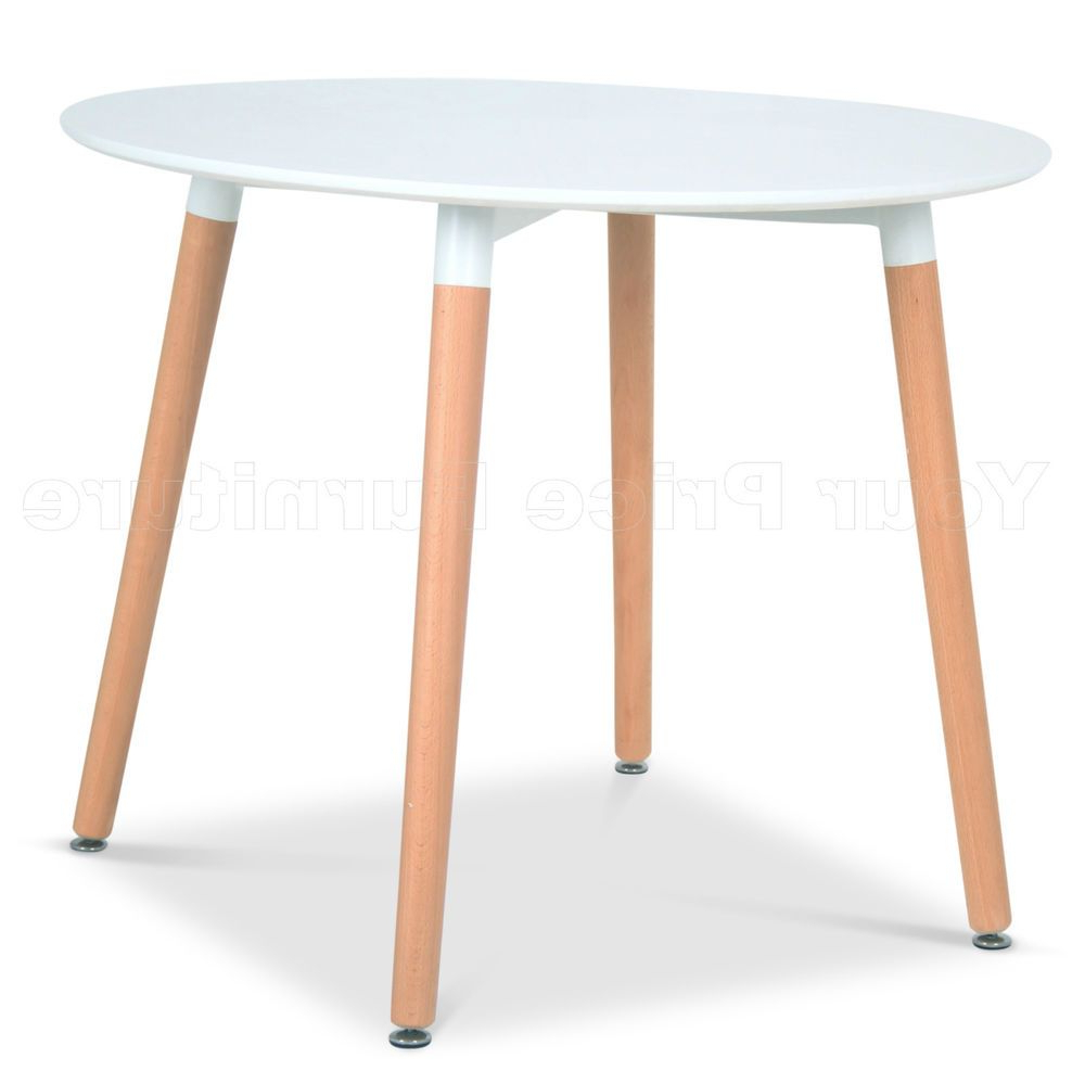 Widely Used Eiffel Small White Designer Dining Table 90Cms Round Wood Throughout Eames Style Dining Tables With Wooden Legs (View 5 of 16)