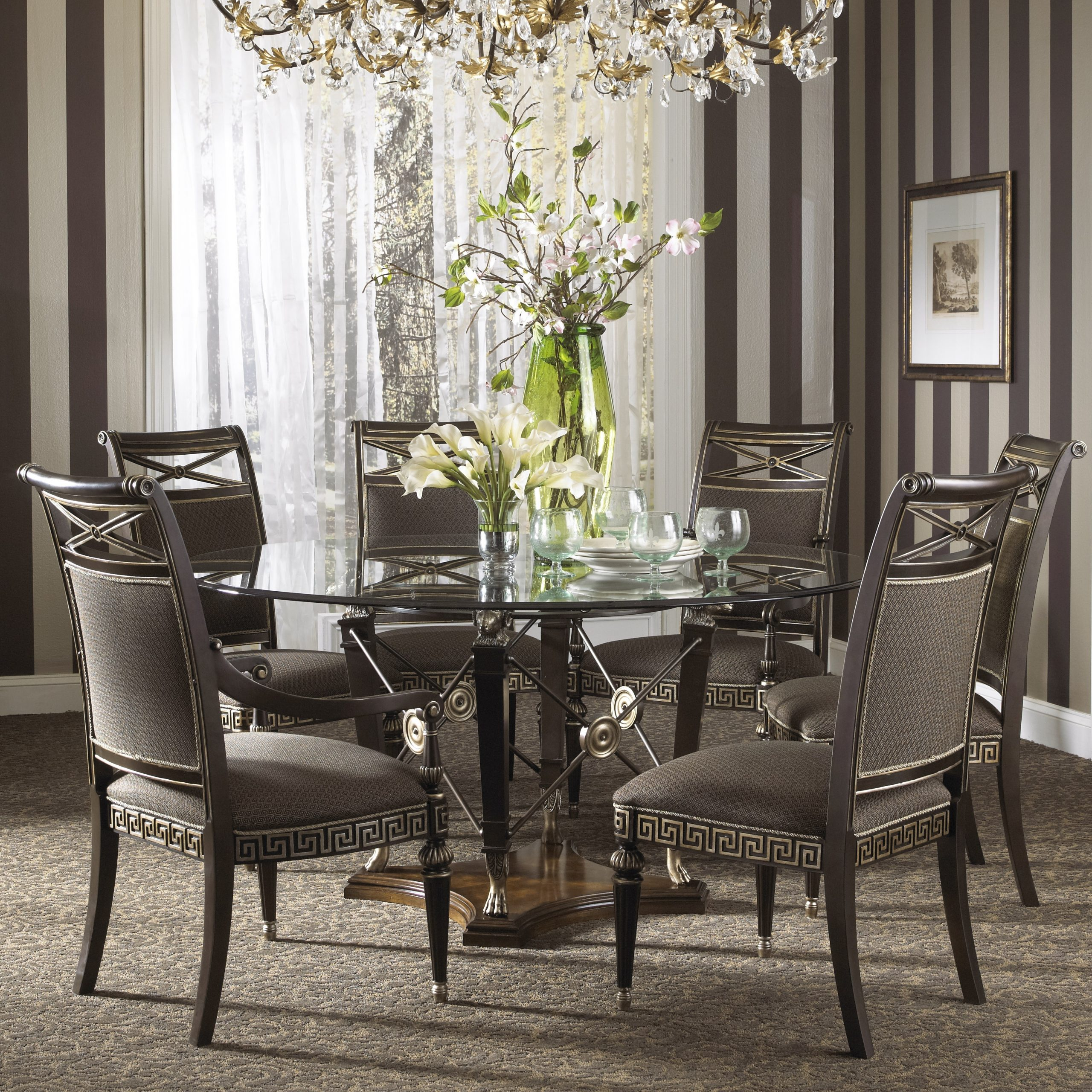 Widely Used Elegance Large Round Dining Tables Inside Elegant Large Round Glass Dining Table And Chair Clearance (View 4 of 25)
