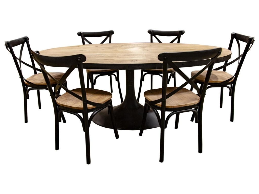 Widely Used Nest Home Collections Miranda Oval Natural Wood Dining Table With Regard To Iron Wood Dining Tables (View 8 of 25)