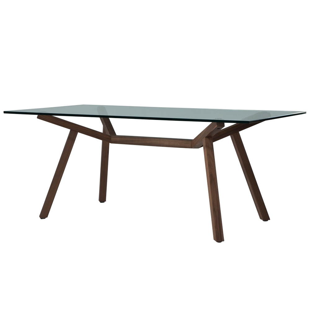 Widely Used Rectangular Glass Top Dining Tables With Sean Dix Forte Rectangular Dining Table (Glass Top) (View 24 of 25)