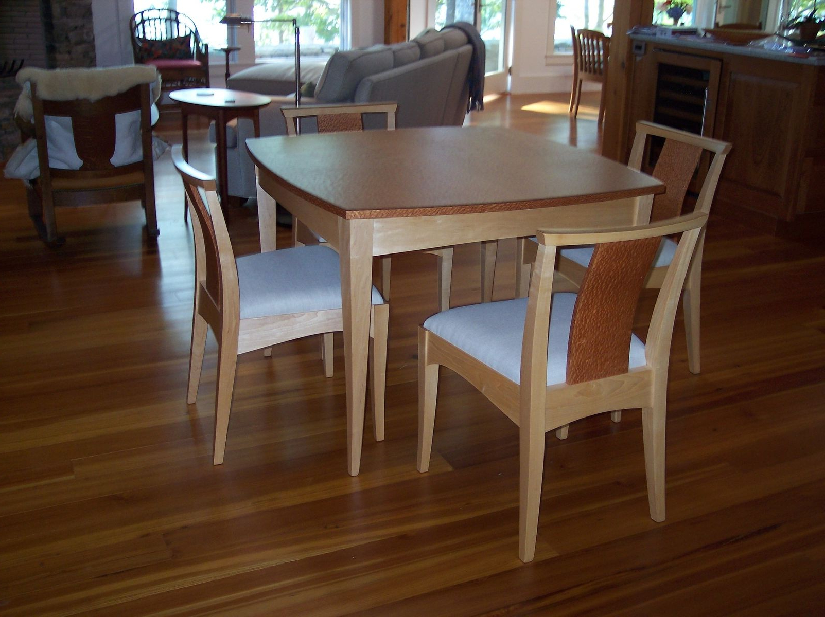 Widely Used Small Rustic Look Dining Tables With Regard To Hand Made Curvy, Square Small Dining Table And Chairs (View 25 of 25)