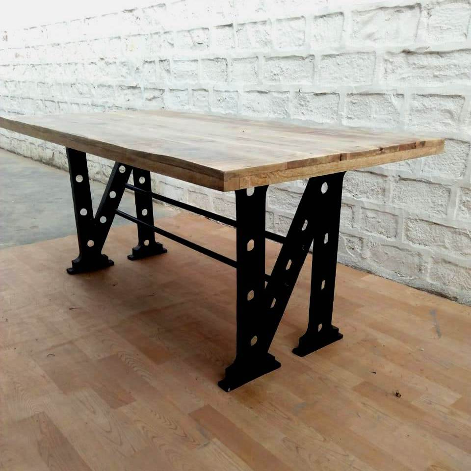 Widely Used Unique Acacia Wood Dining Tables With Industrial Vintage Design Metal Wooden Dining Table,industrial Dining Table  – Buy Wood Rustic Dining Table,acacia Wood Dining Table,industrial Style (View 25 of 25)