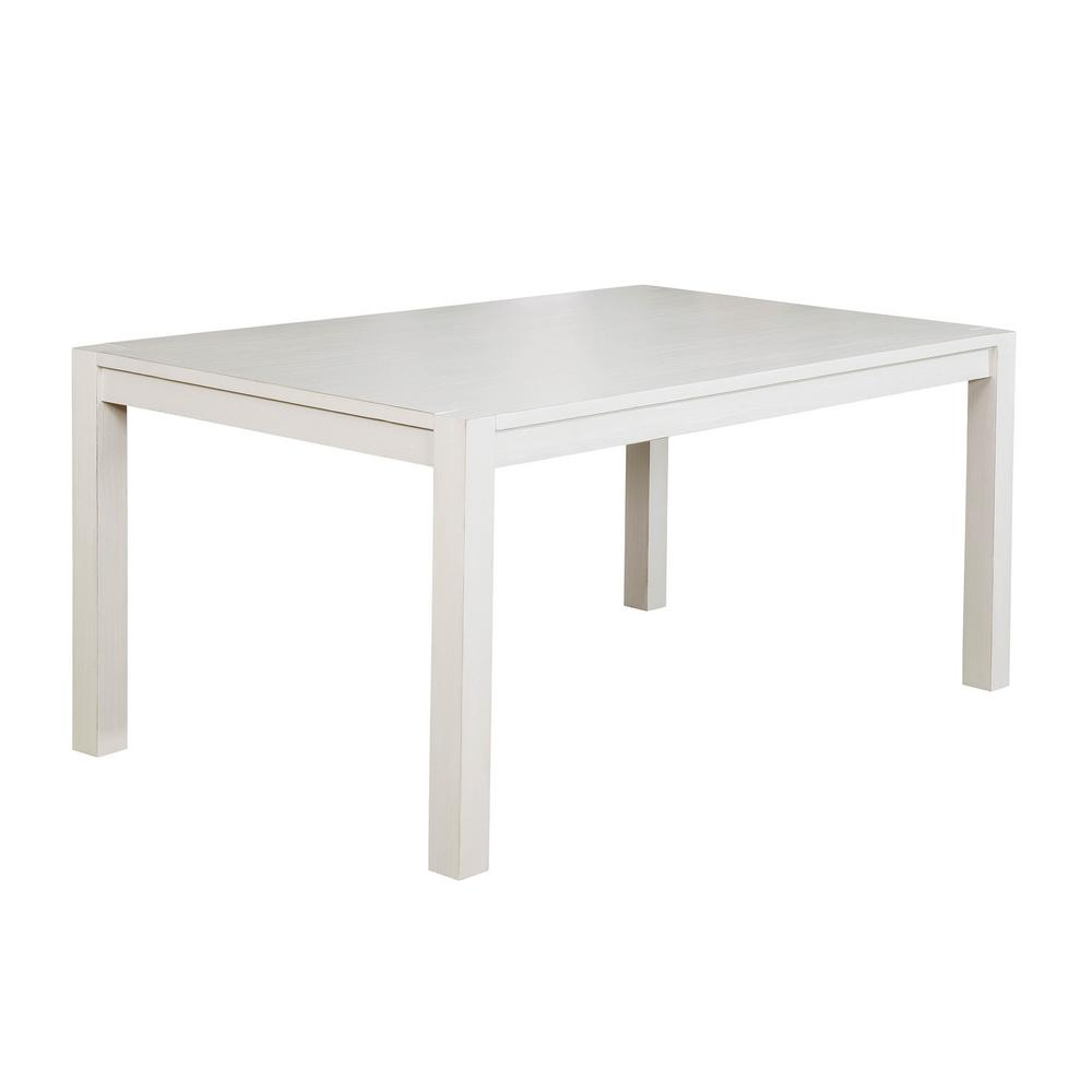 William's Home Furnishing Glenfield Weathered White For Popular Atwood Transitional Square Dining Tables (View 25 of 25)