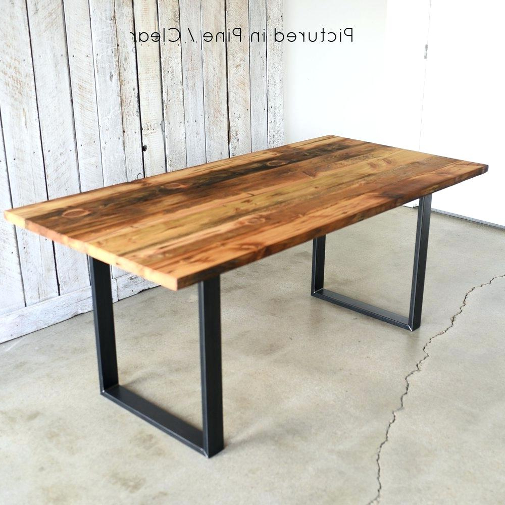 Wood Dining Table With Metal Legs – Thedenovo (View 4 of 25)