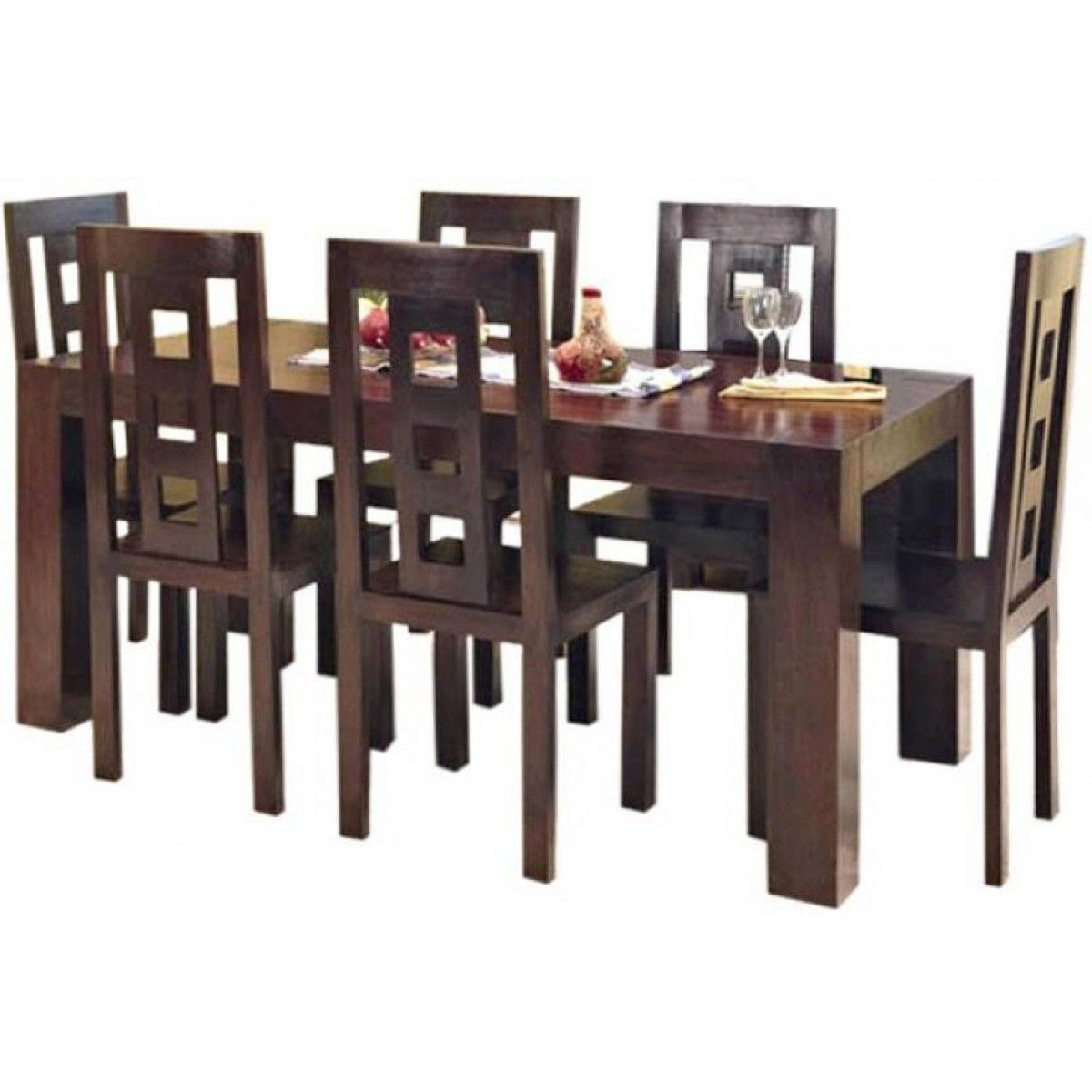 Featured Photo of 6 Seater Retangular Wood Contemporary Dining Tables