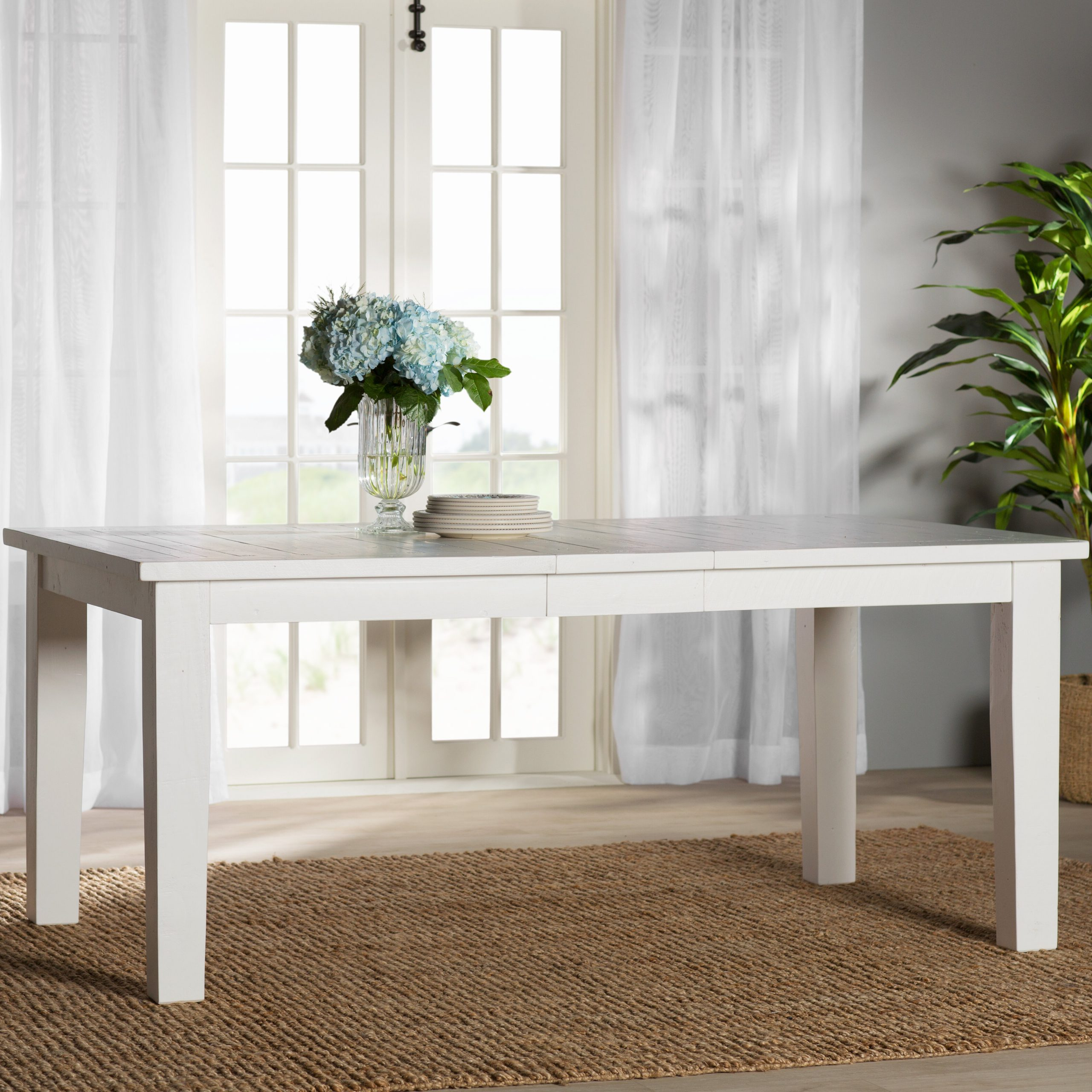 Zeinab Rectangle Extendable Solid Wood Dining Table In Well Known Rectangular Dining Tables (View 8 of 25)