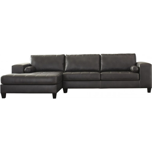 2017 2Pc Maddox Left Arm Facing Sectional Sofas With Cuddler Brown Throughout J&M Furniture Gary Italian Leather Sectional In Grey (View 14 of 20)
