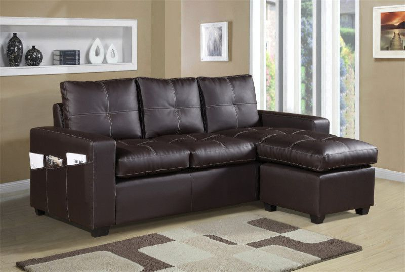 2017 3Pc Faux Leather Sectional Sofas Brown Inside 2 Pc Everly Brown Faux Leather Sectional Sofa Set With (View 2 of 25)