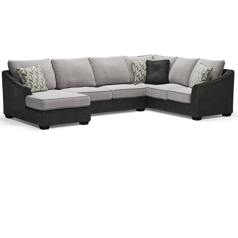 2017 3Pc Polyfiber Sectional Sofas In Bilgray 3 Piece Sectionalsignature Designashley (View 23 of 25)